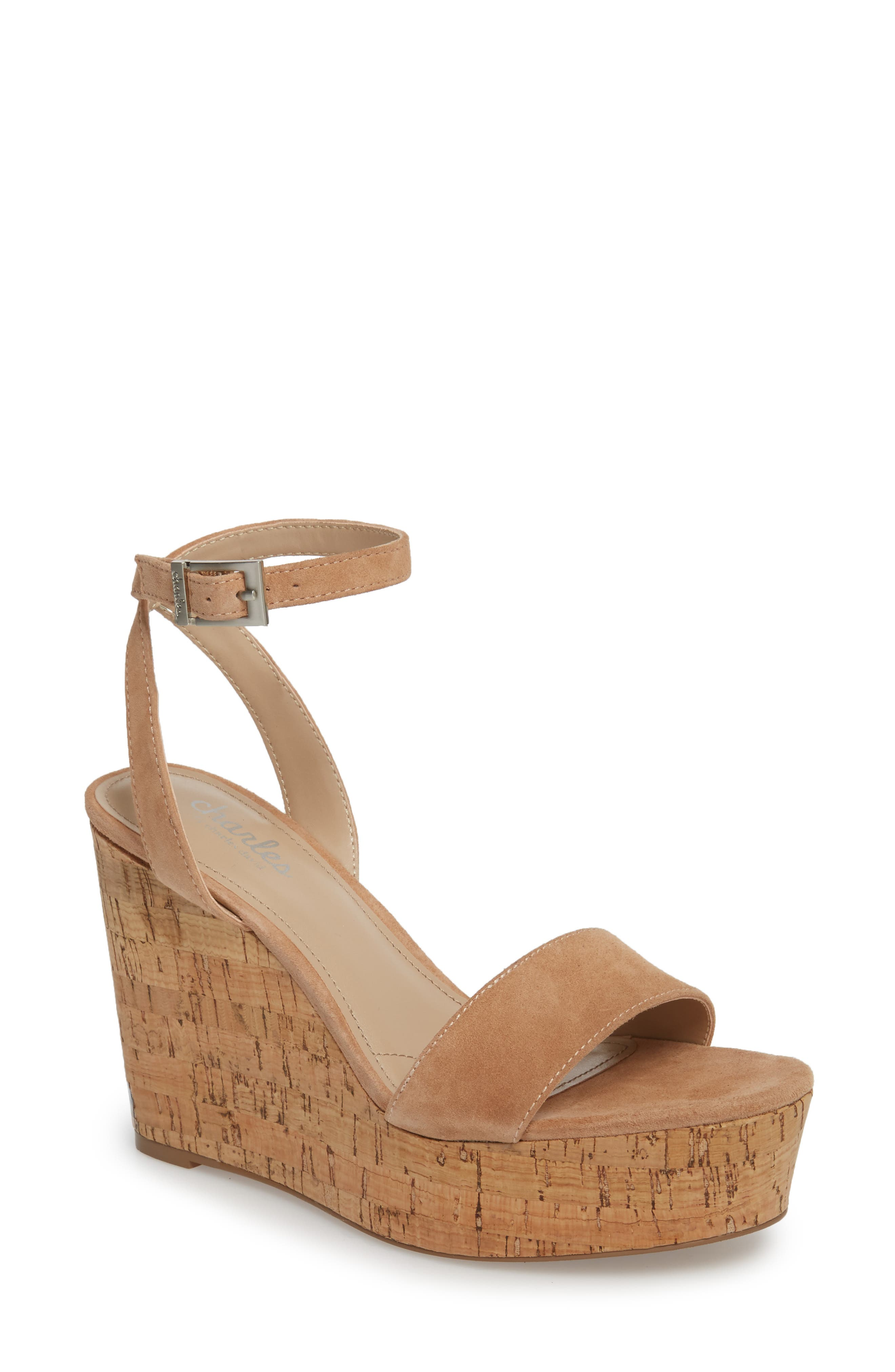Charles by Charles David Lilla Platform Wedge Sandal (Women)