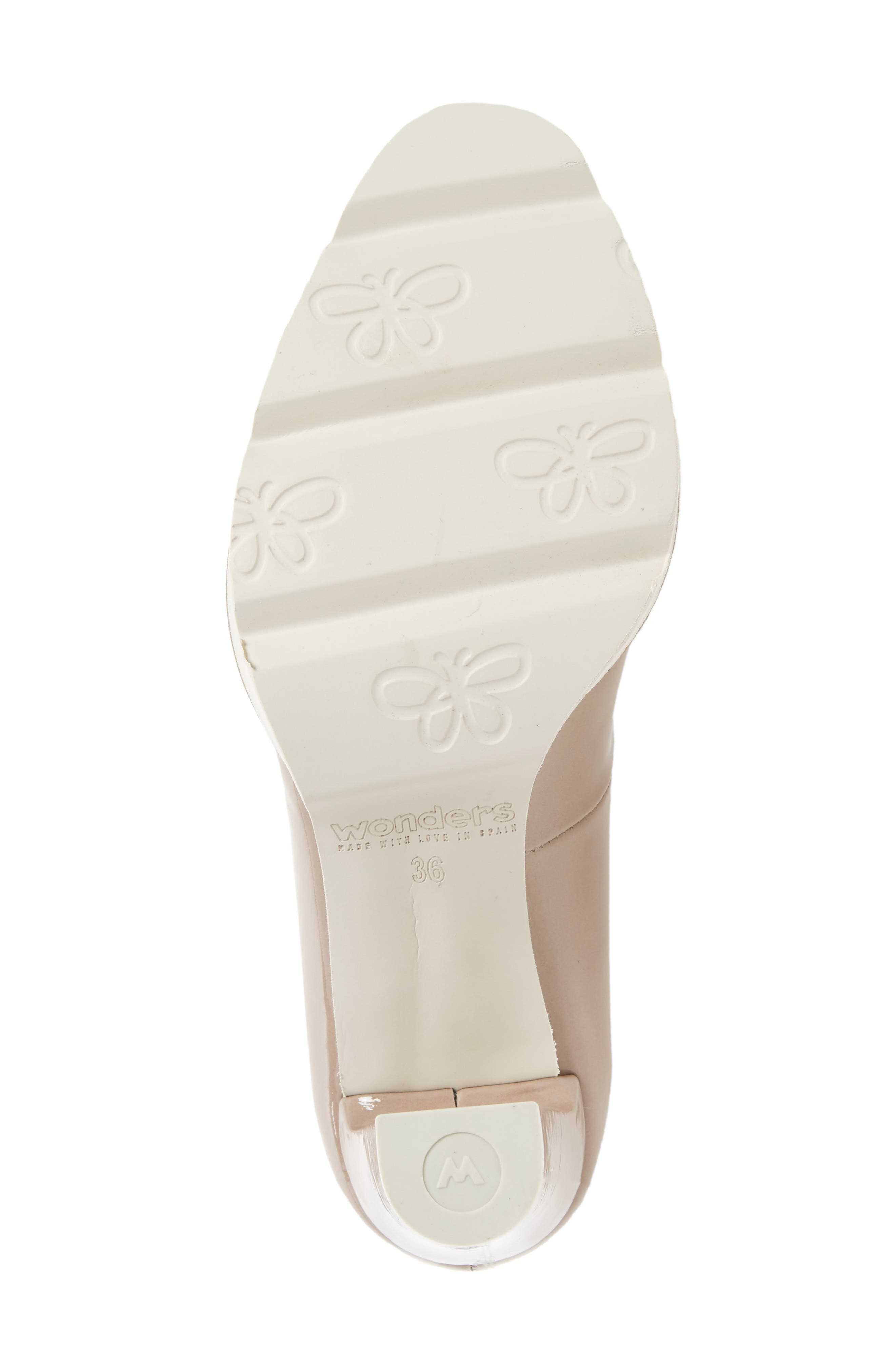 Almond Toe Pump,                             Alternate thumbnail 6, color,                             Taupe Leather