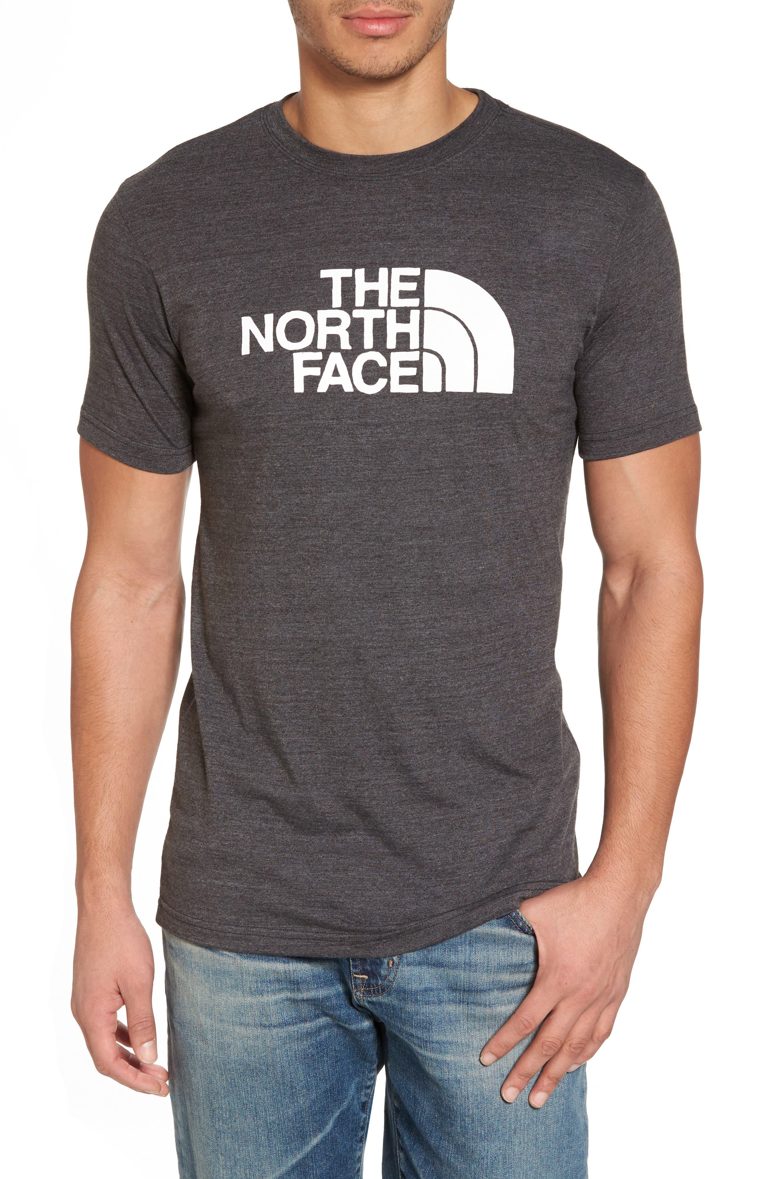Half Dome T-Shirt,                         Main,                         color, Tnf Grey Heather/ Tnf White