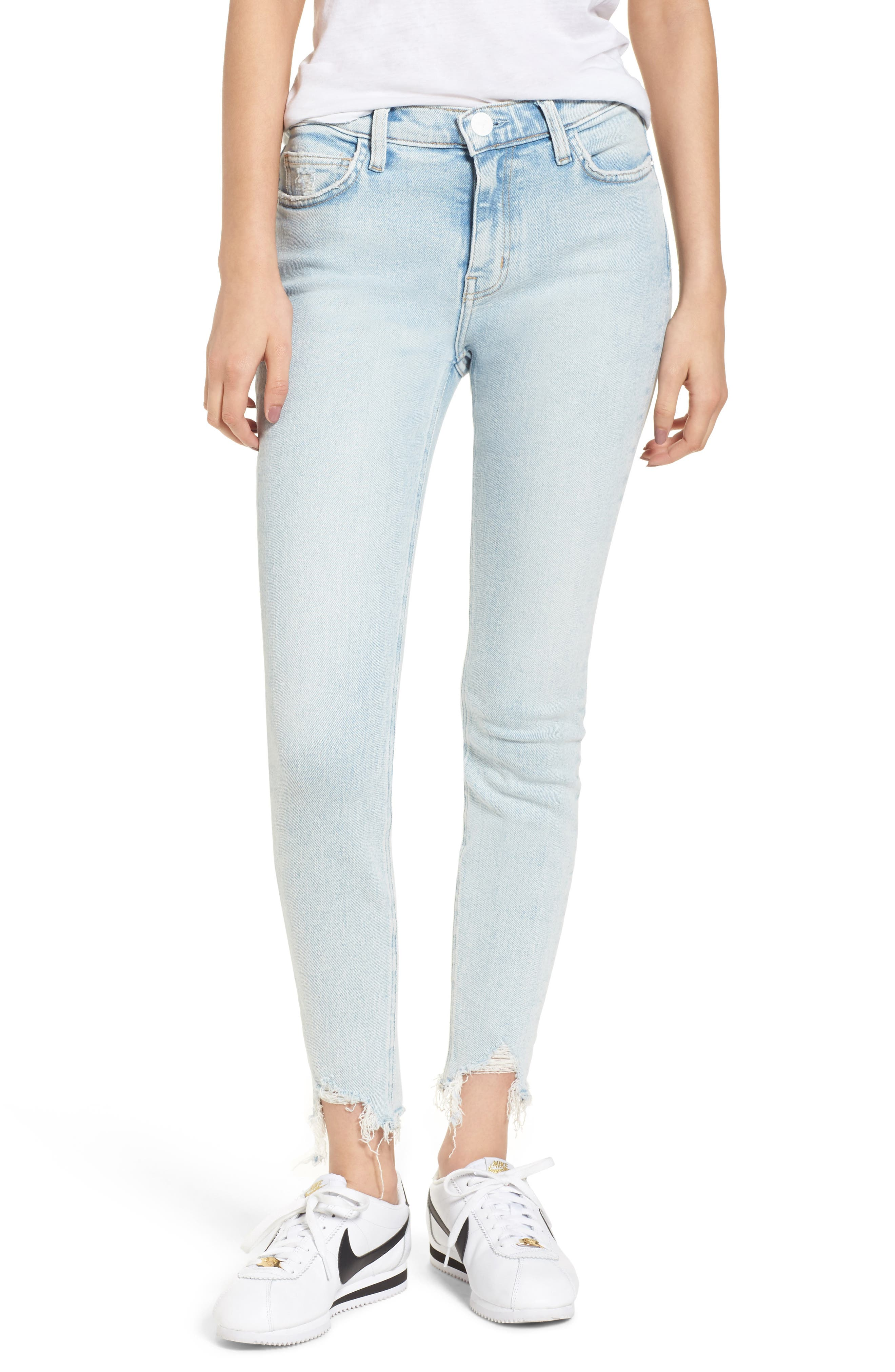 Current/Elliott The High Waist Ankle Skinny Jeans (Cascade)
