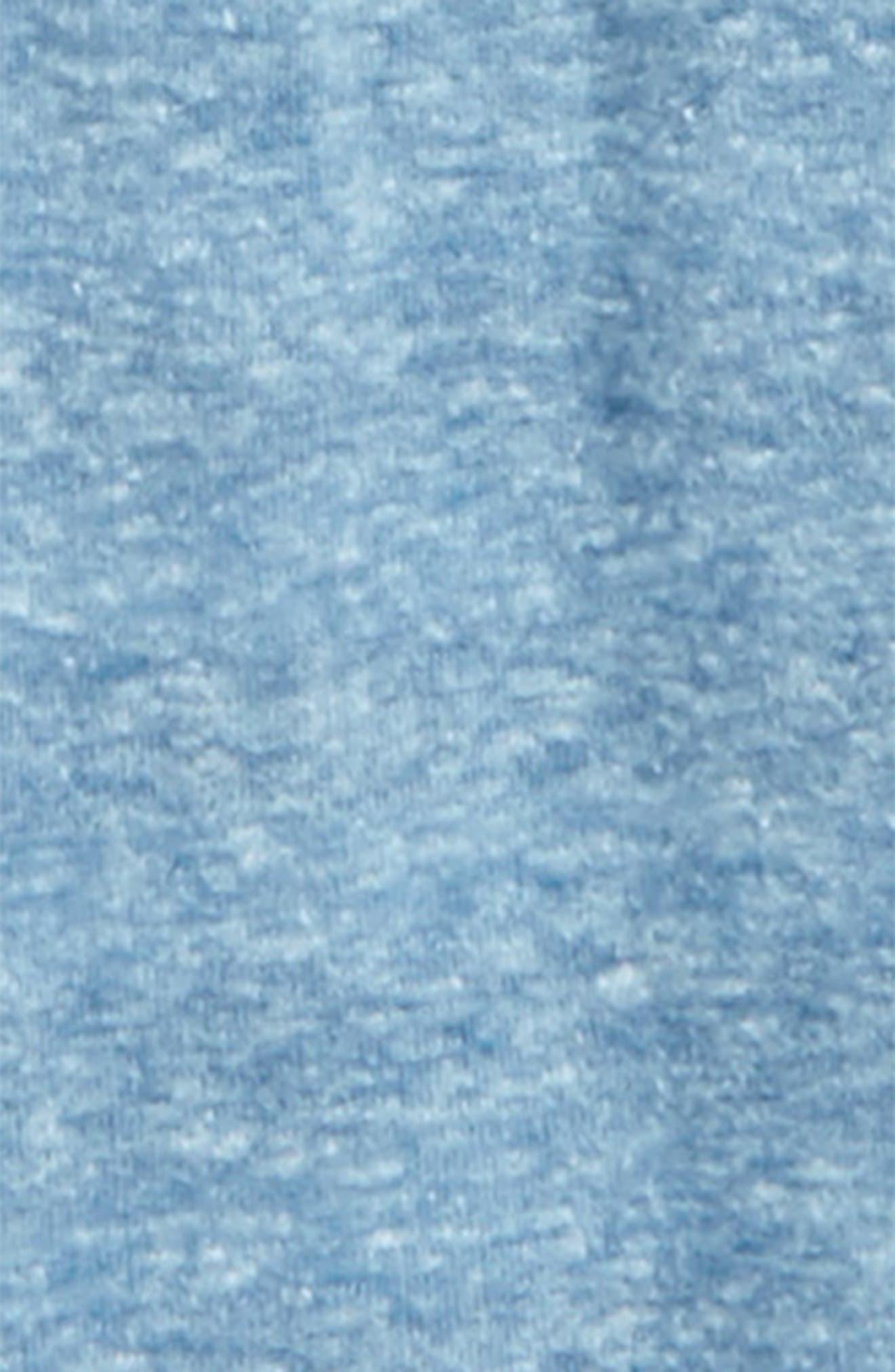 Reversible Zip Hoodie, Bodysuit & Pants Set,                             Alternate thumbnail 2, color,                             Blue Dark- Ivory Stripe