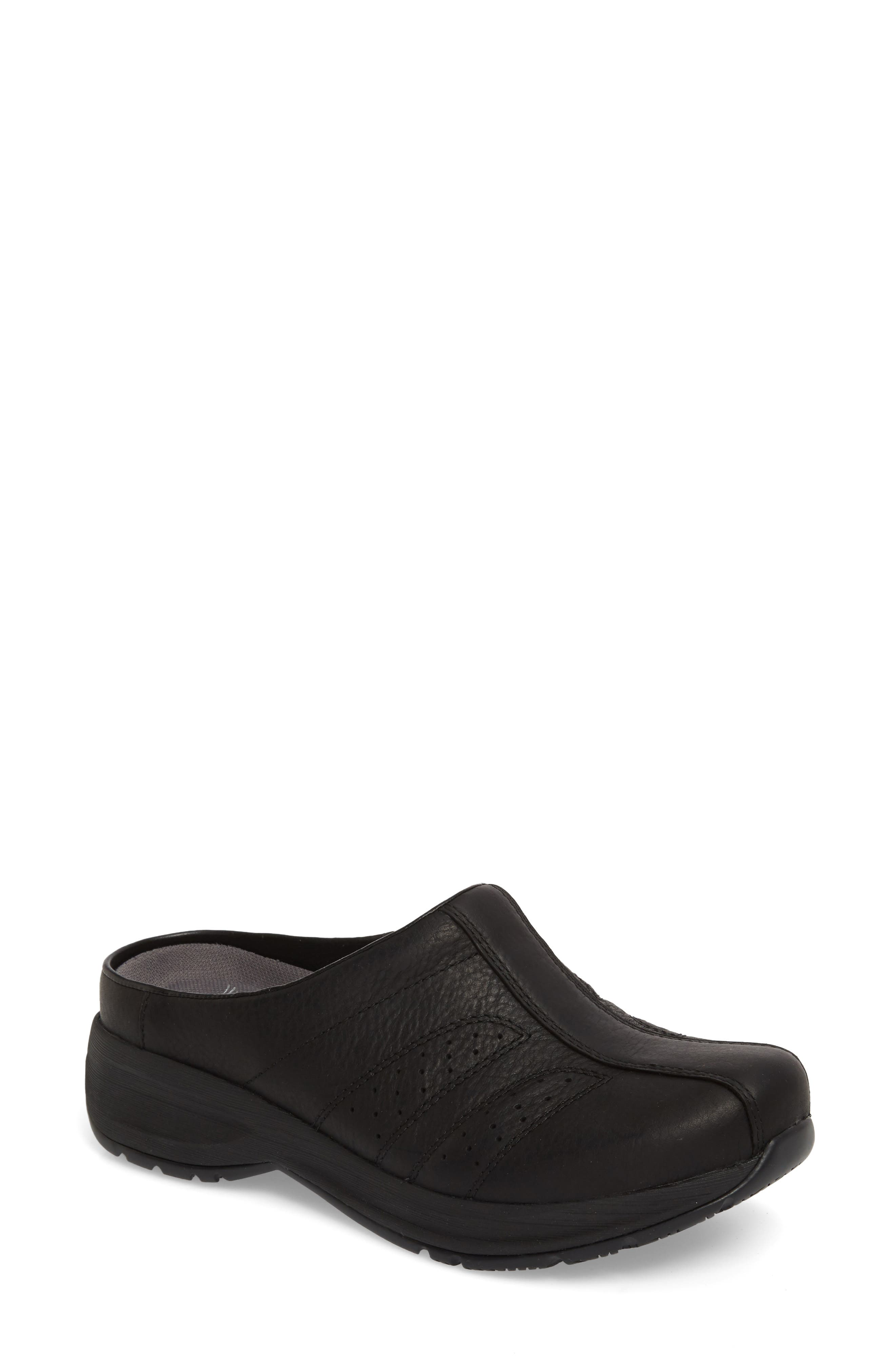 Dankso Shelly Mule,                         Main,                         color, Black Leather