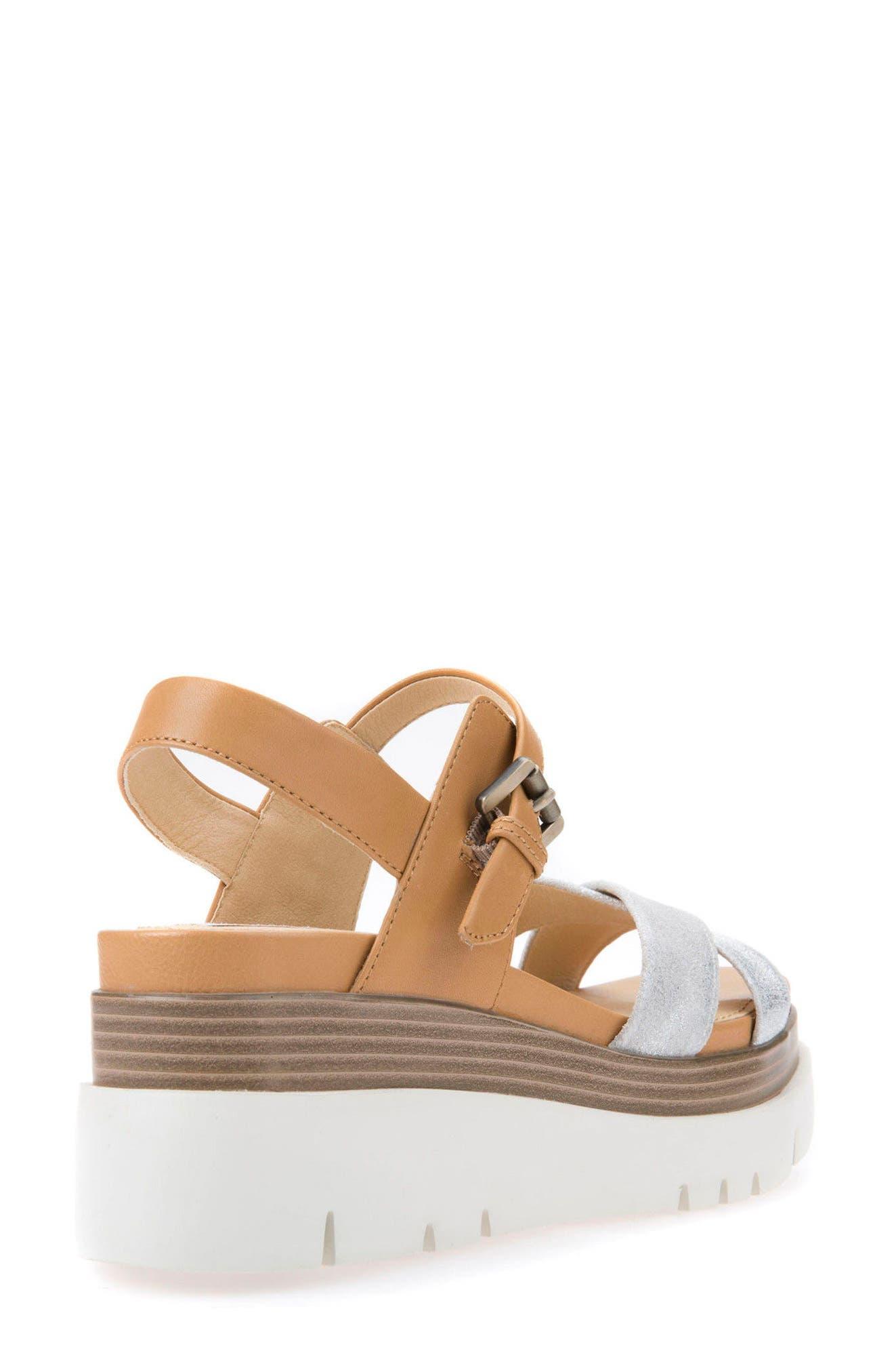 Radwa Platform Sandal,                             Alternate thumbnail 2, color,                             Off White Leather