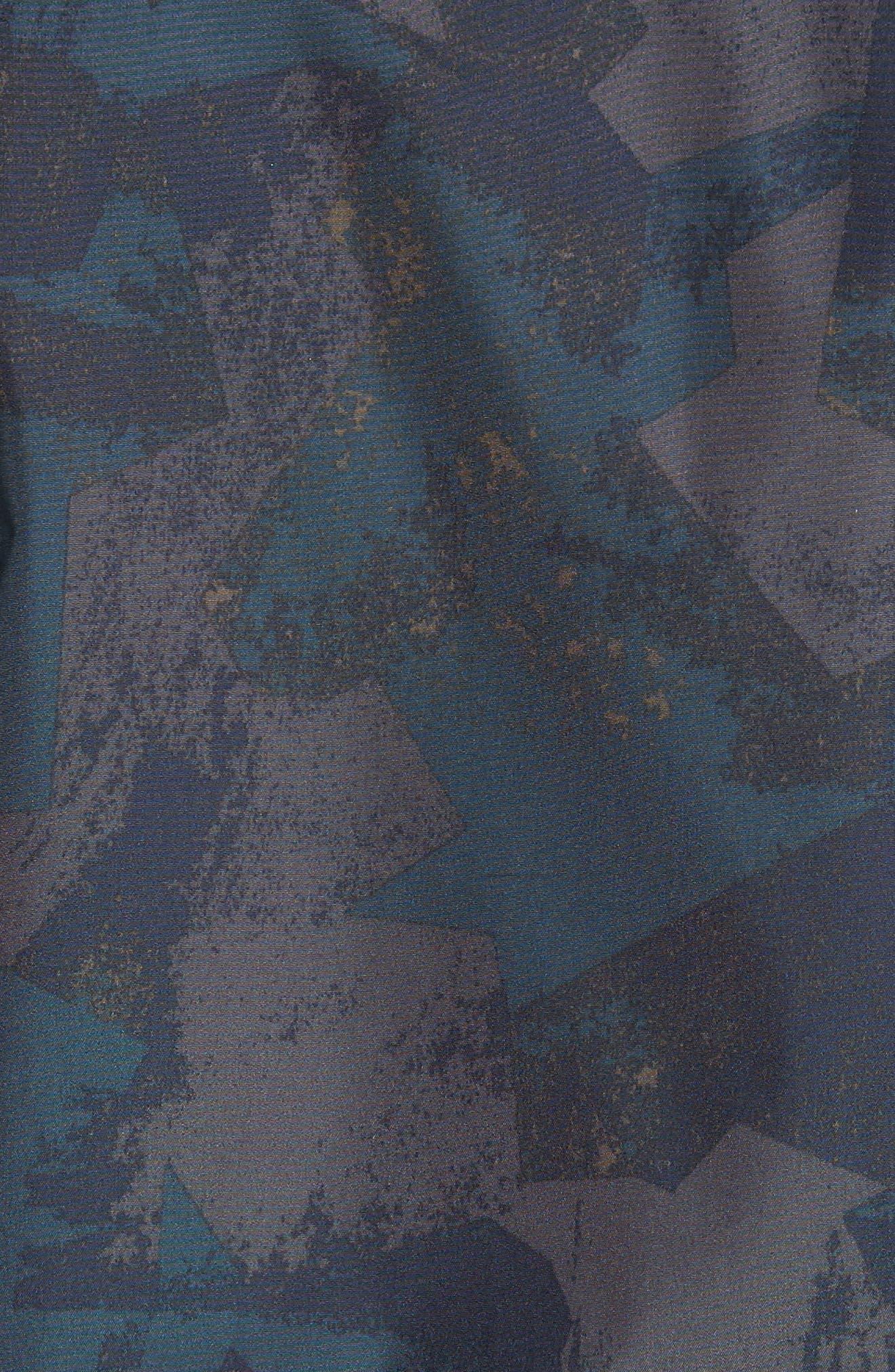 & Bros. Shore Reversible Bomber Jacket,                             Alternate thumbnail 6, color,                             Melton Blue Camo