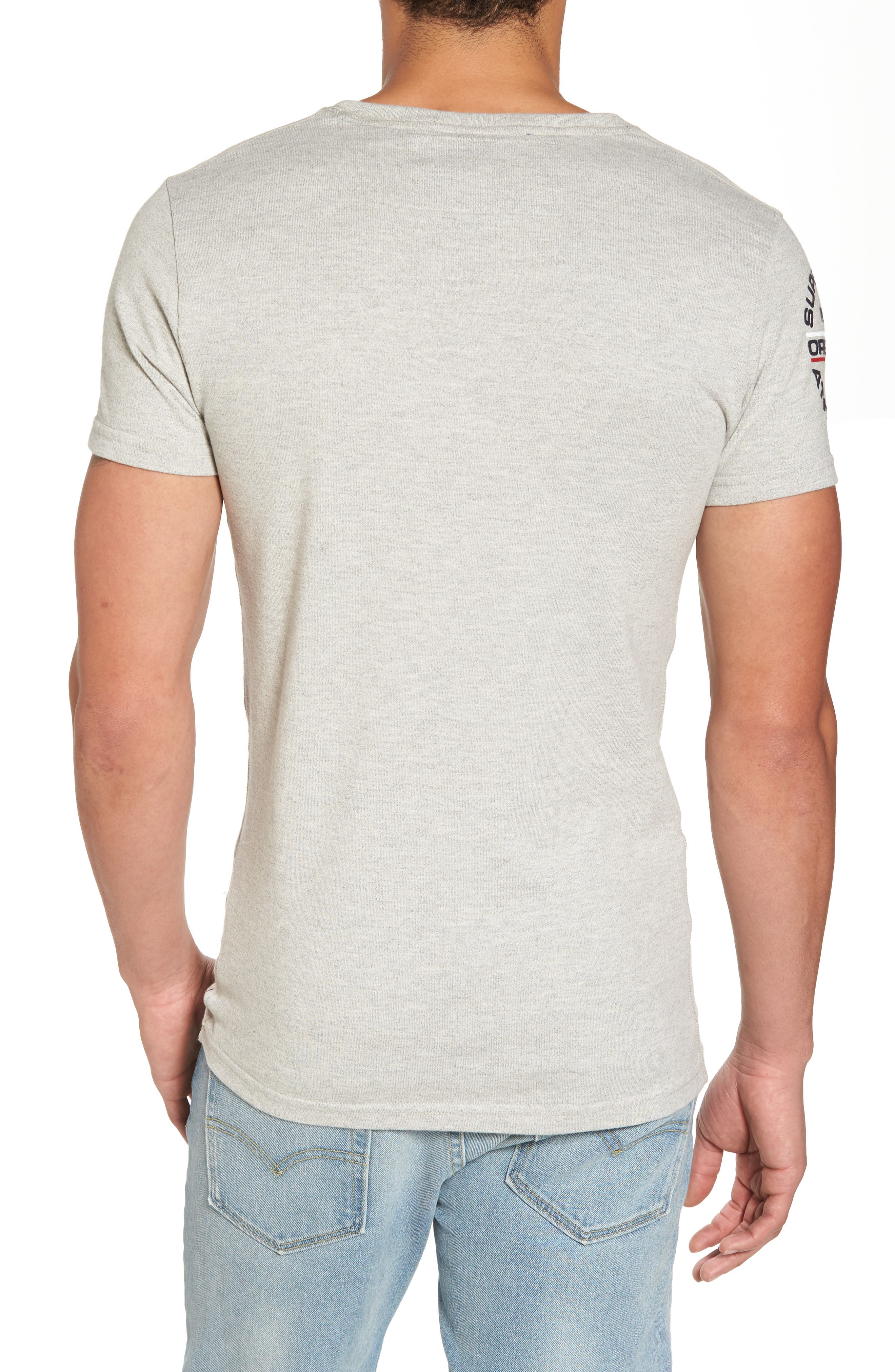 Trophy Chest Band T-Shirt,                             Alternate thumbnail 2, color,                             Superdry Stadium Grey Grindle