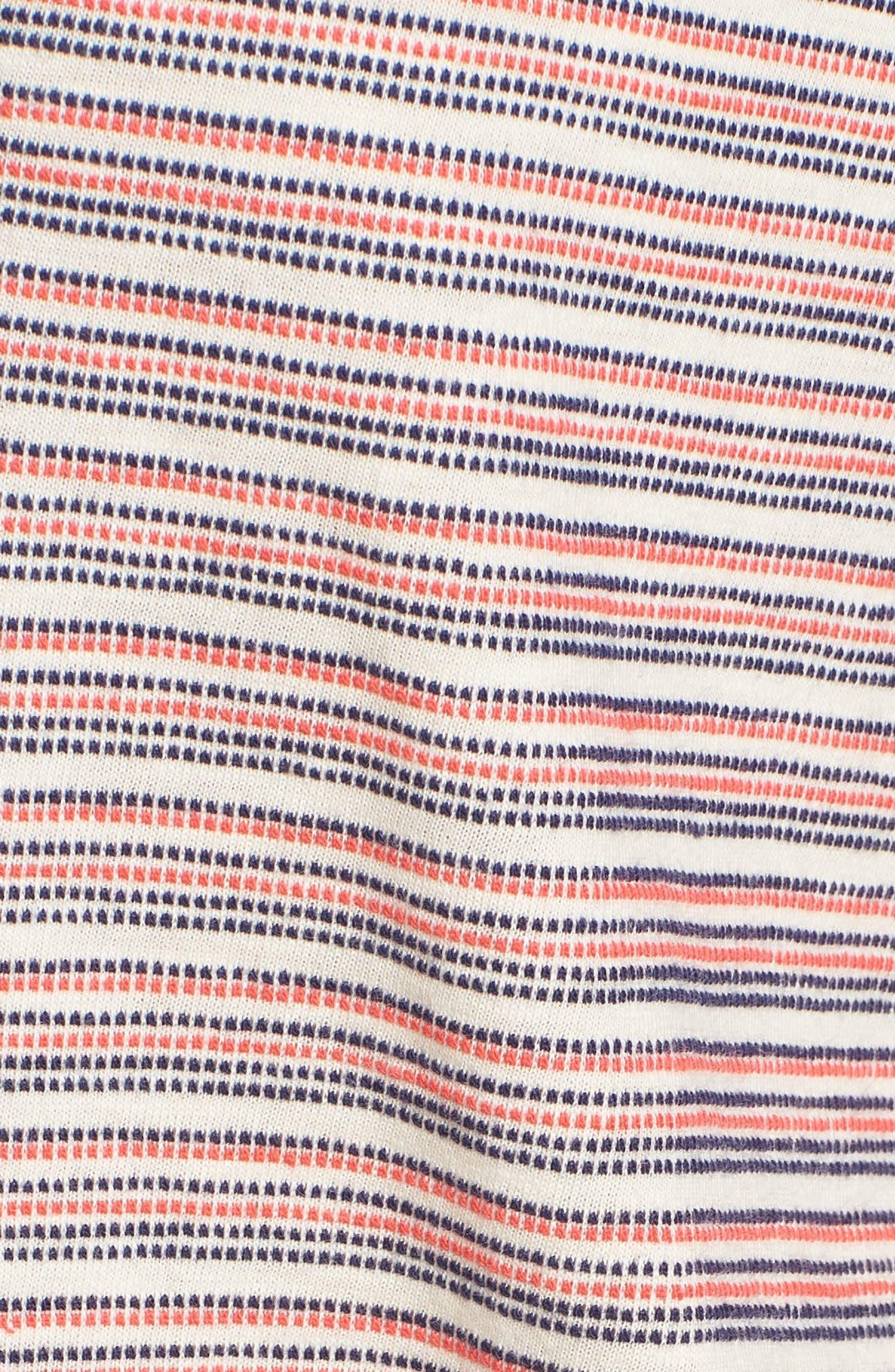Stripe Pullover,                             Alternate thumbnail 5, color,                             Off White
