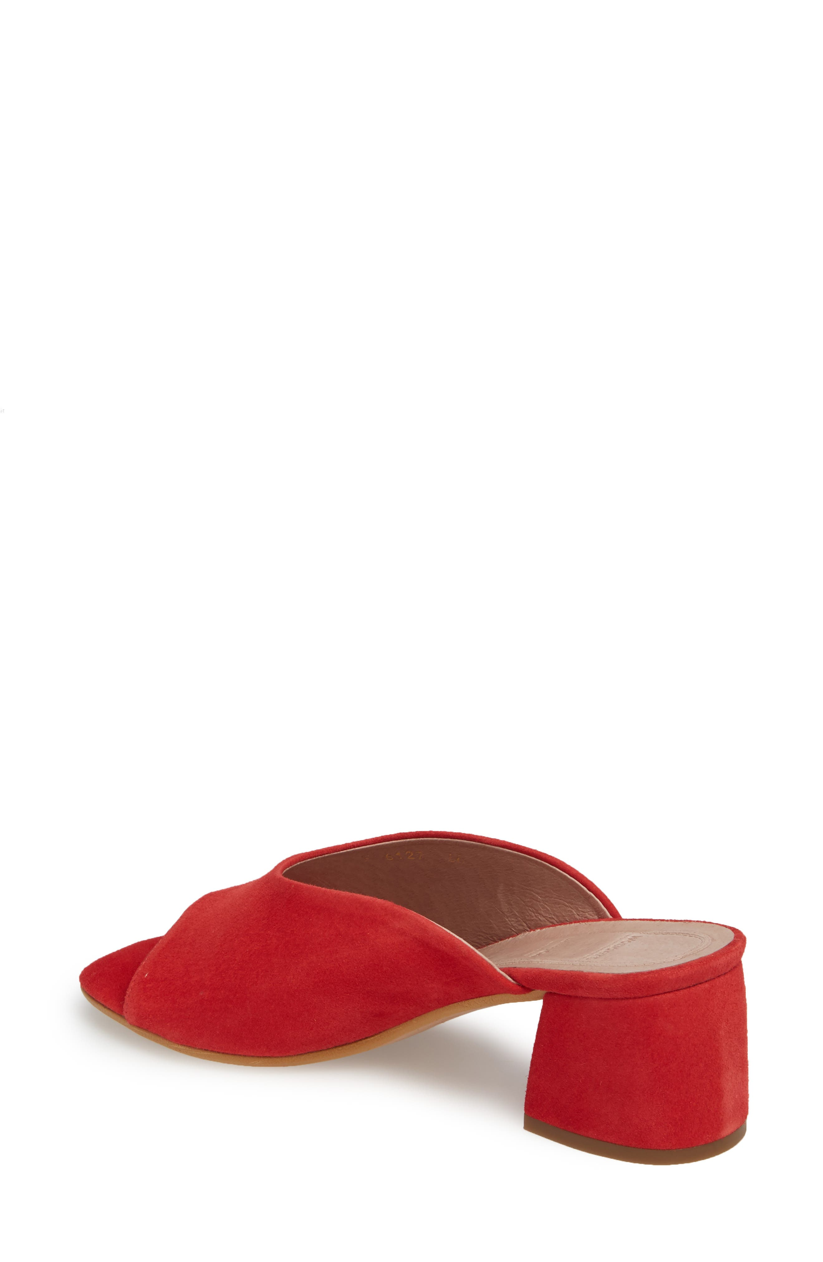 F-6127 Mule,                             Alternate thumbnail 2, color,                             Red Suede