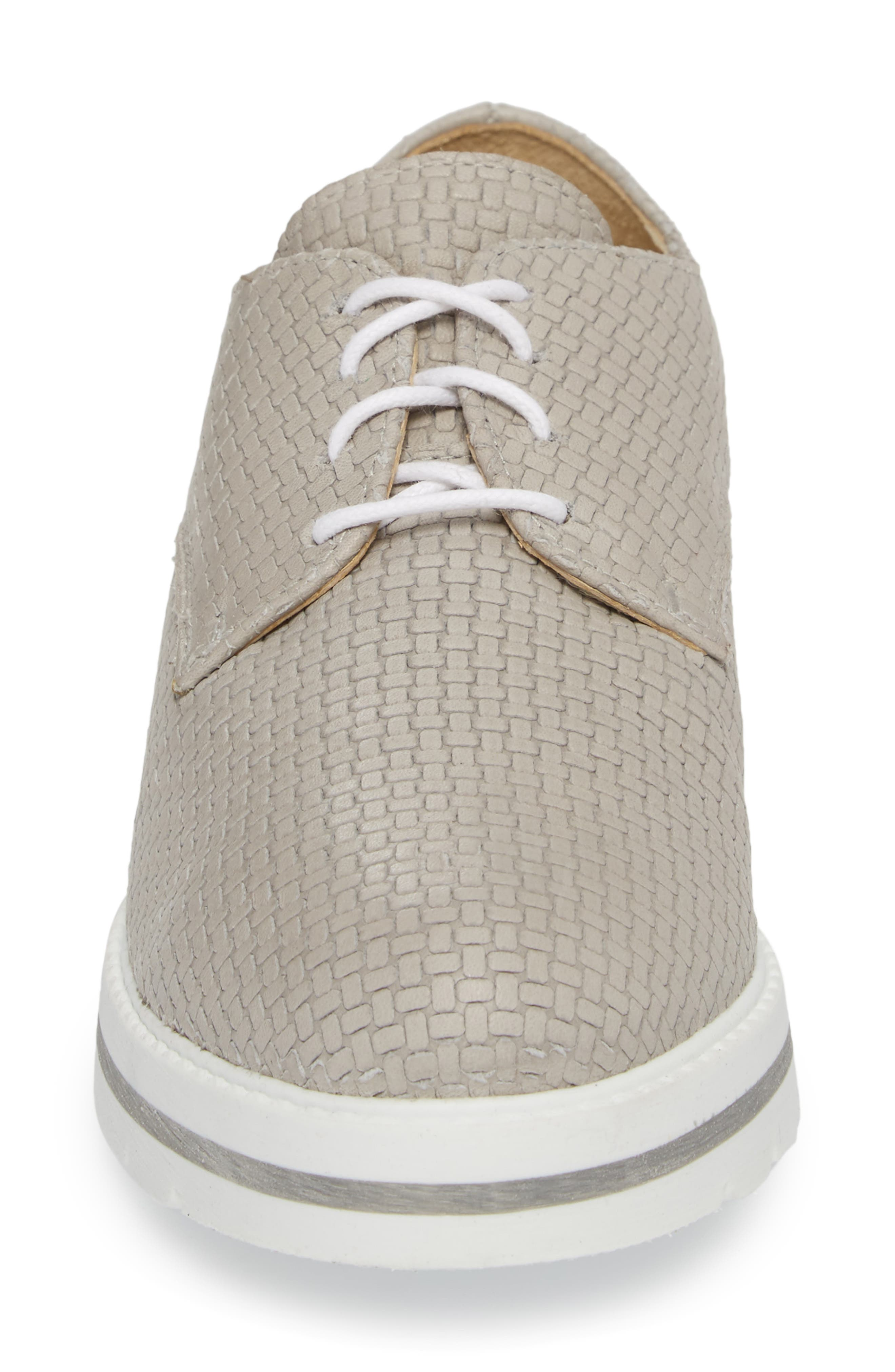 Lando Sneaker Derby,                             Alternate thumbnail 6, color,                             Light Grey Sauvage Leather