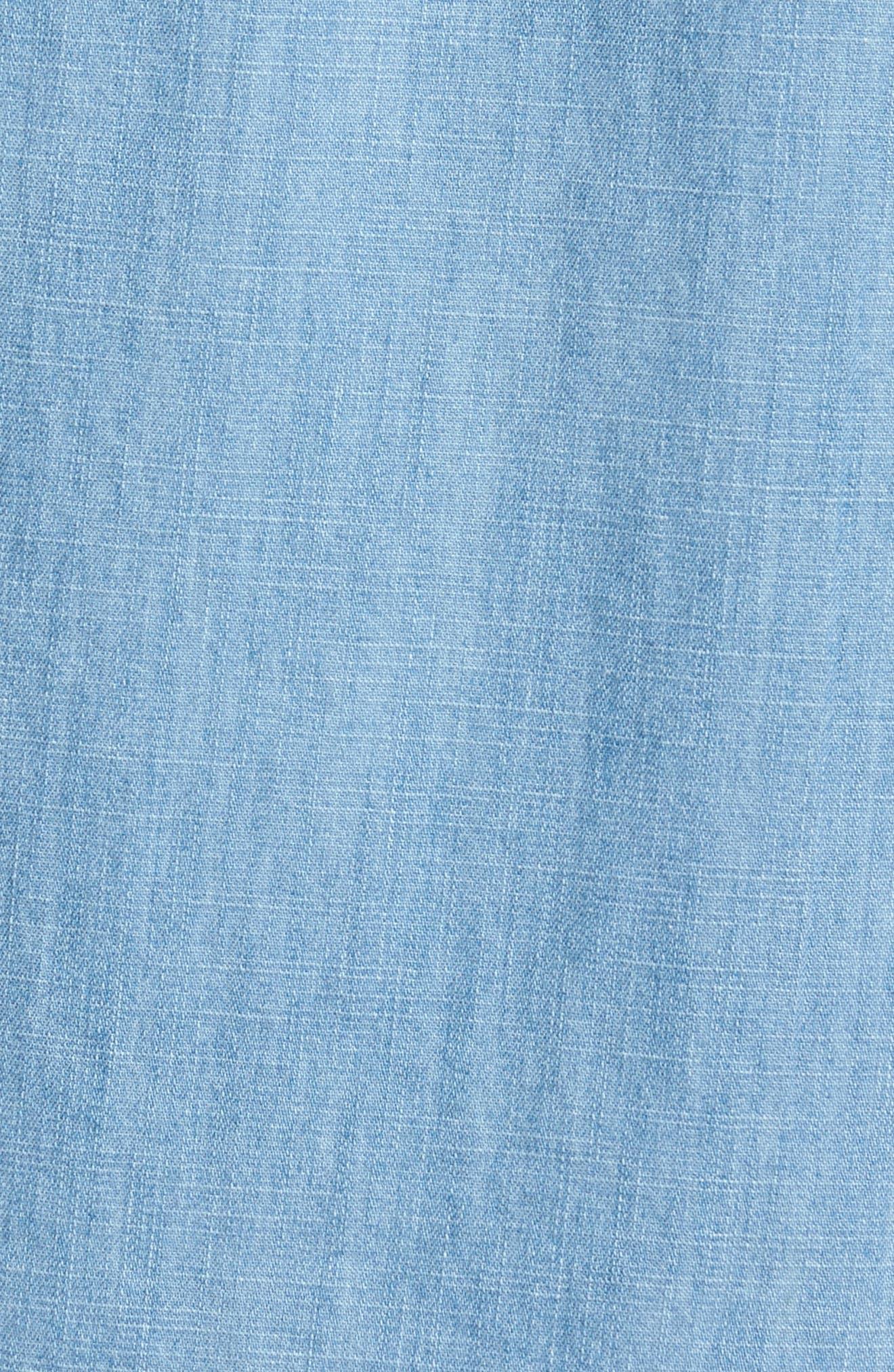 Core Denim Regular Fit Sport Shirt,                             Alternate thumbnail 5, color,                             Bleach