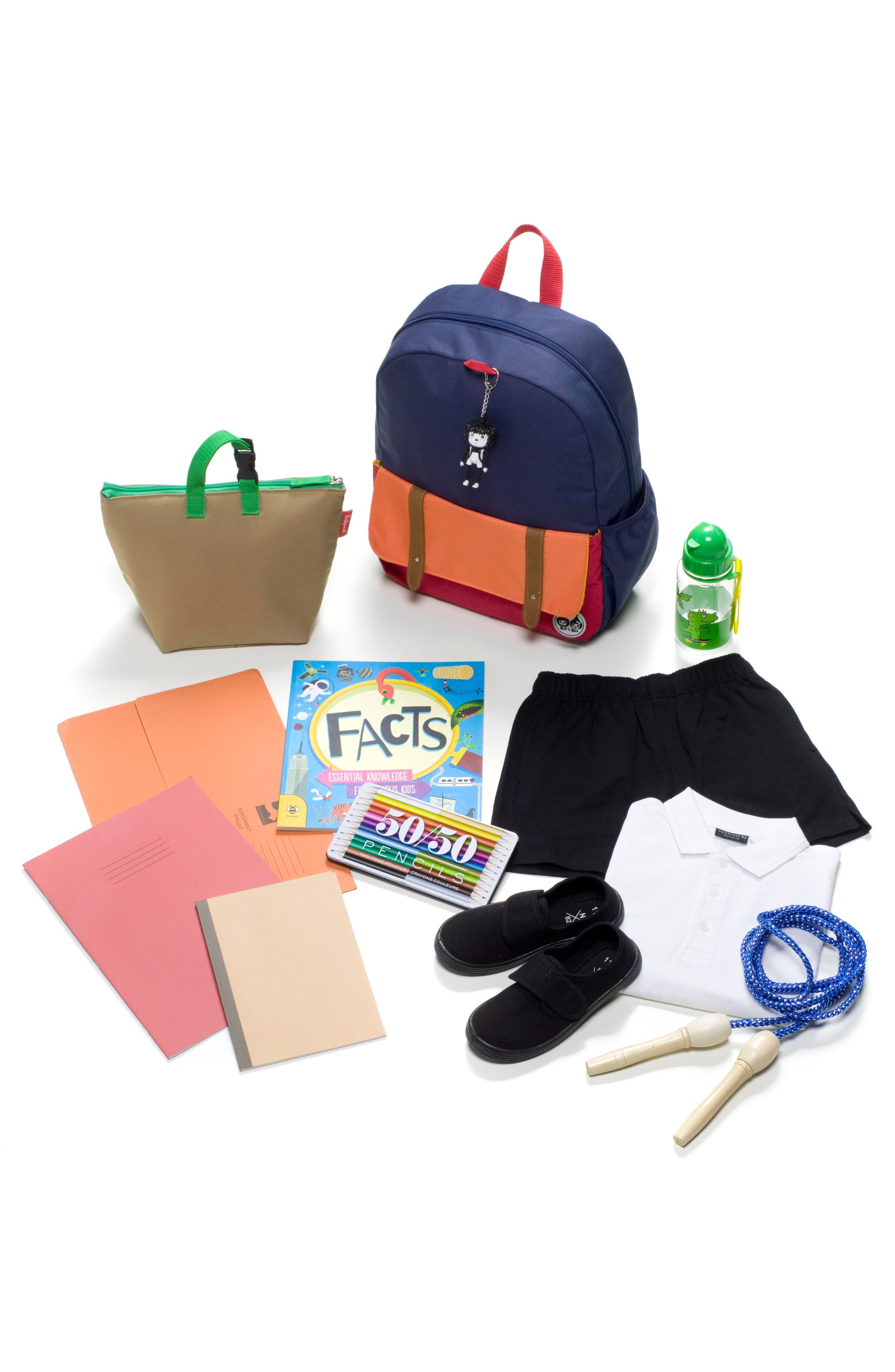 Zip & Zoe Colorblock Junior Backpack,                             Alternate thumbnail 11, color,                             Blue
