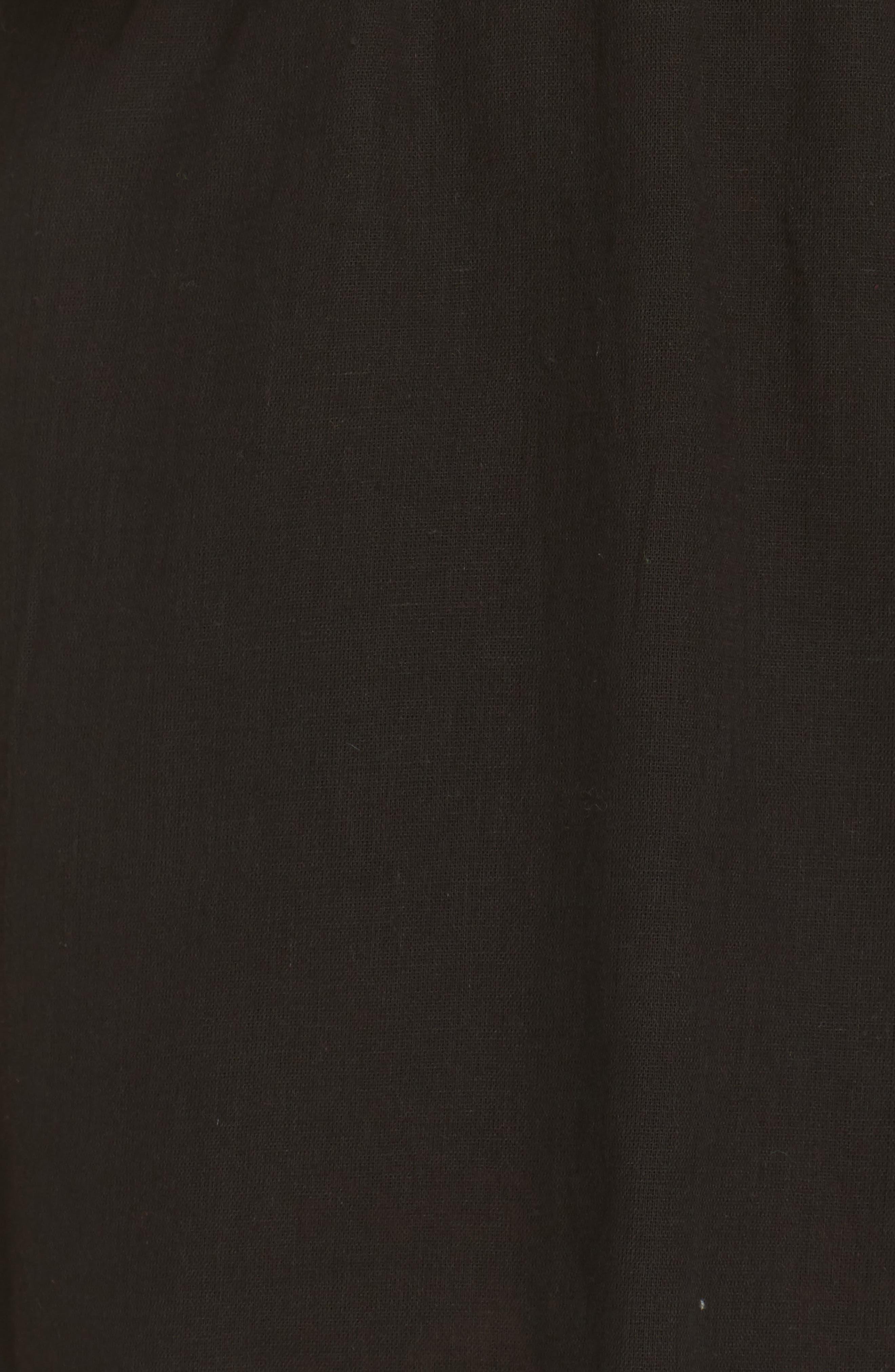 PomPom Festival Cover-Up Dress,                             Alternate thumbnail 5, color,                             Black
