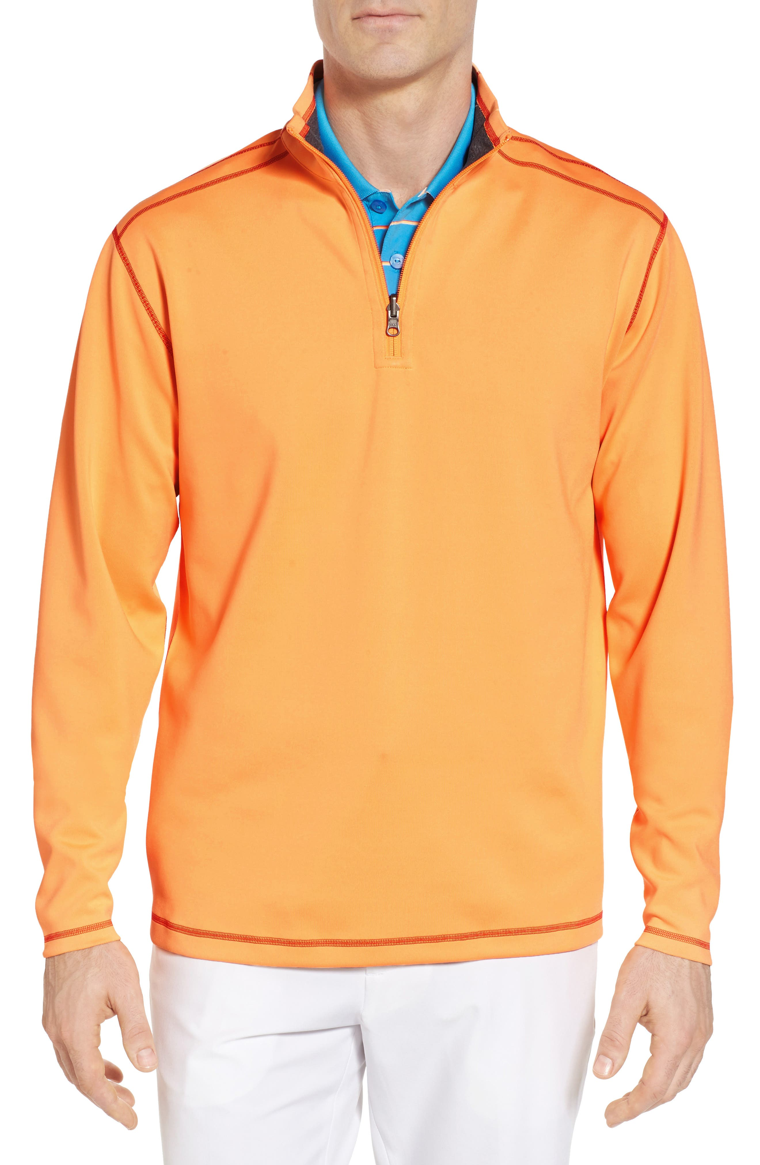 Evergreen Classic Fit DryTec Reversible Half Zip Pullover,                             Main thumbnail 1, color,                             Clarity