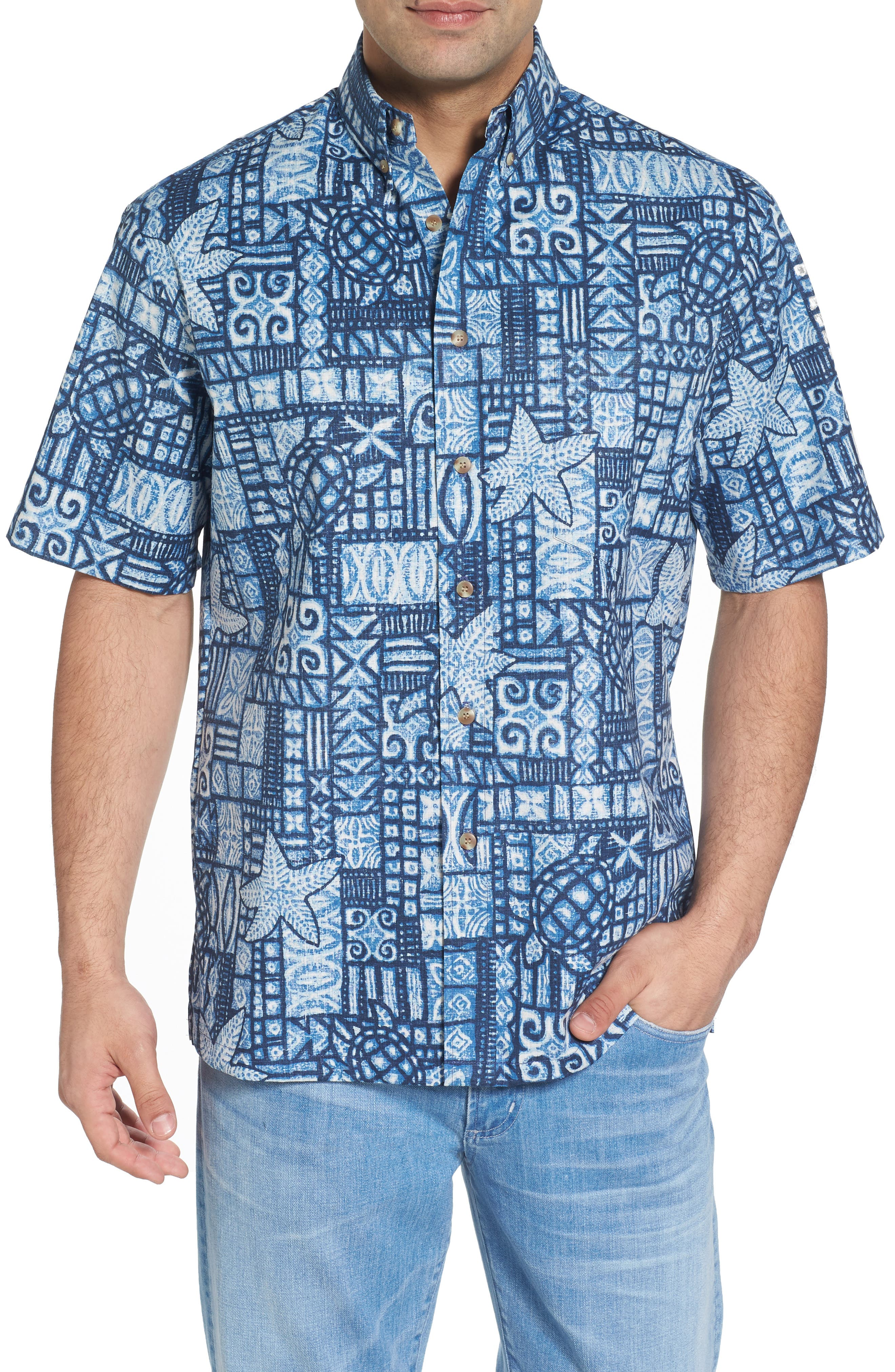 Kahala Ki'i Pokahu Relaxed Fit Half Placket Shirt