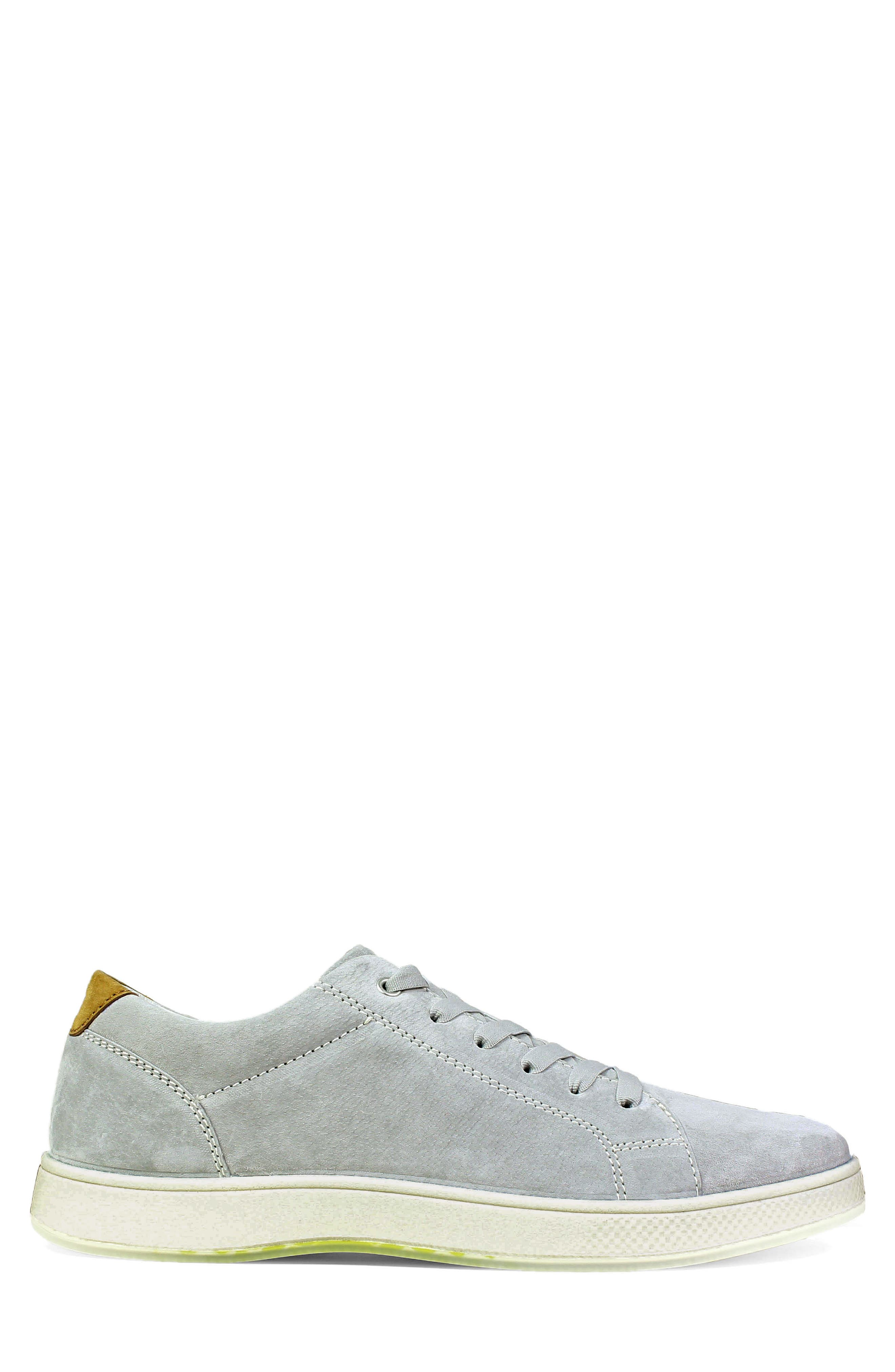 Edge Low Top Sneaker,                             Alternate thumbnail 3, color,                             Gray Nubuck