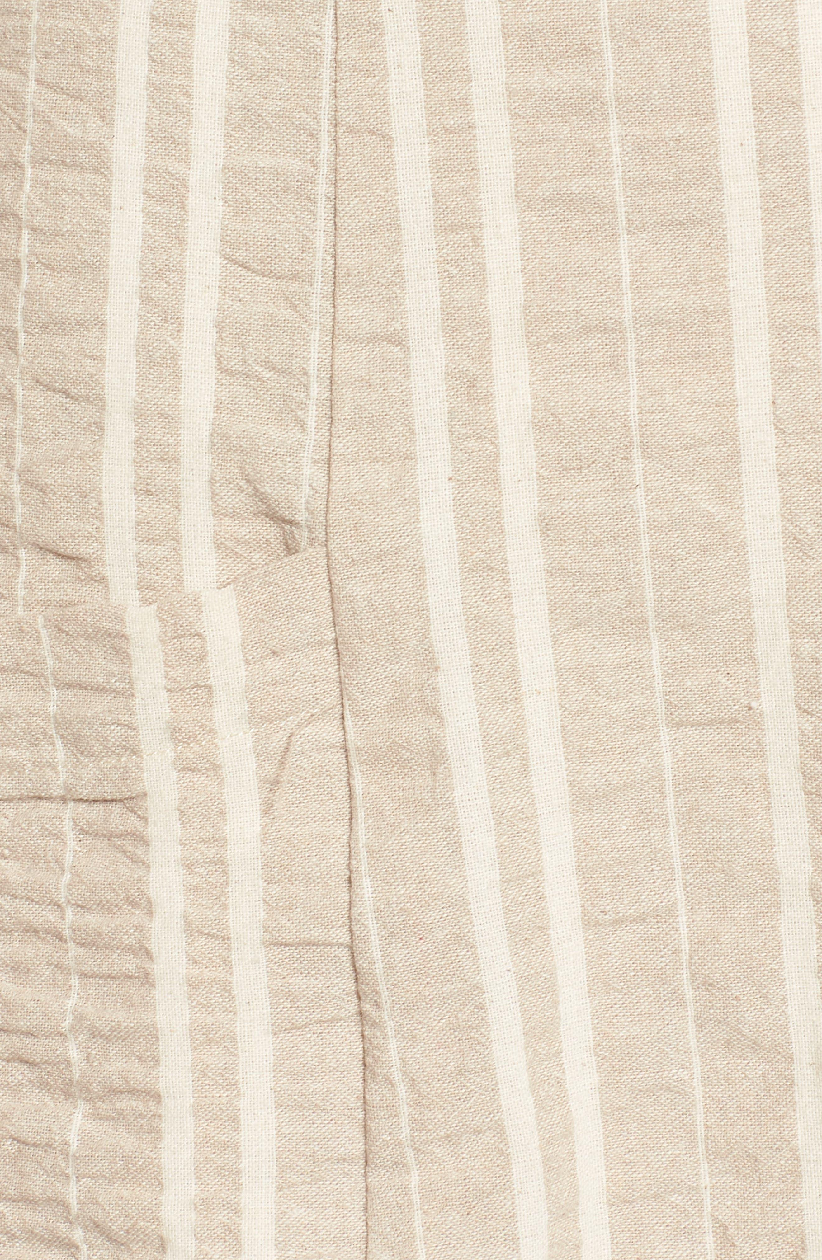 Stella Stripe Dress,                             Alternate thumbnail 6, color,                             Cream