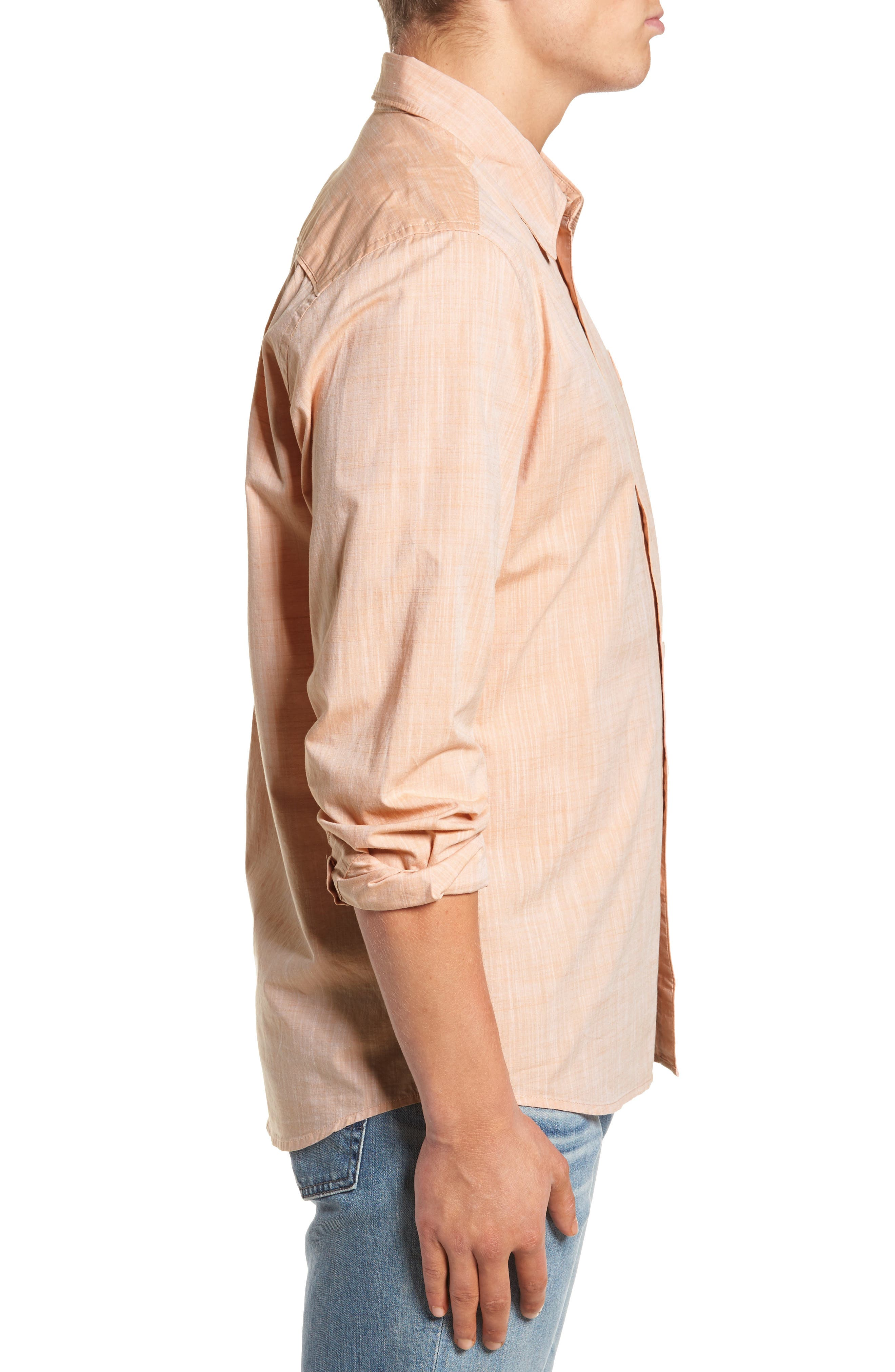 Mai Tai Regular Fit Sport Shirt,                             Alternate thumbnail 4, color,                             Papaya