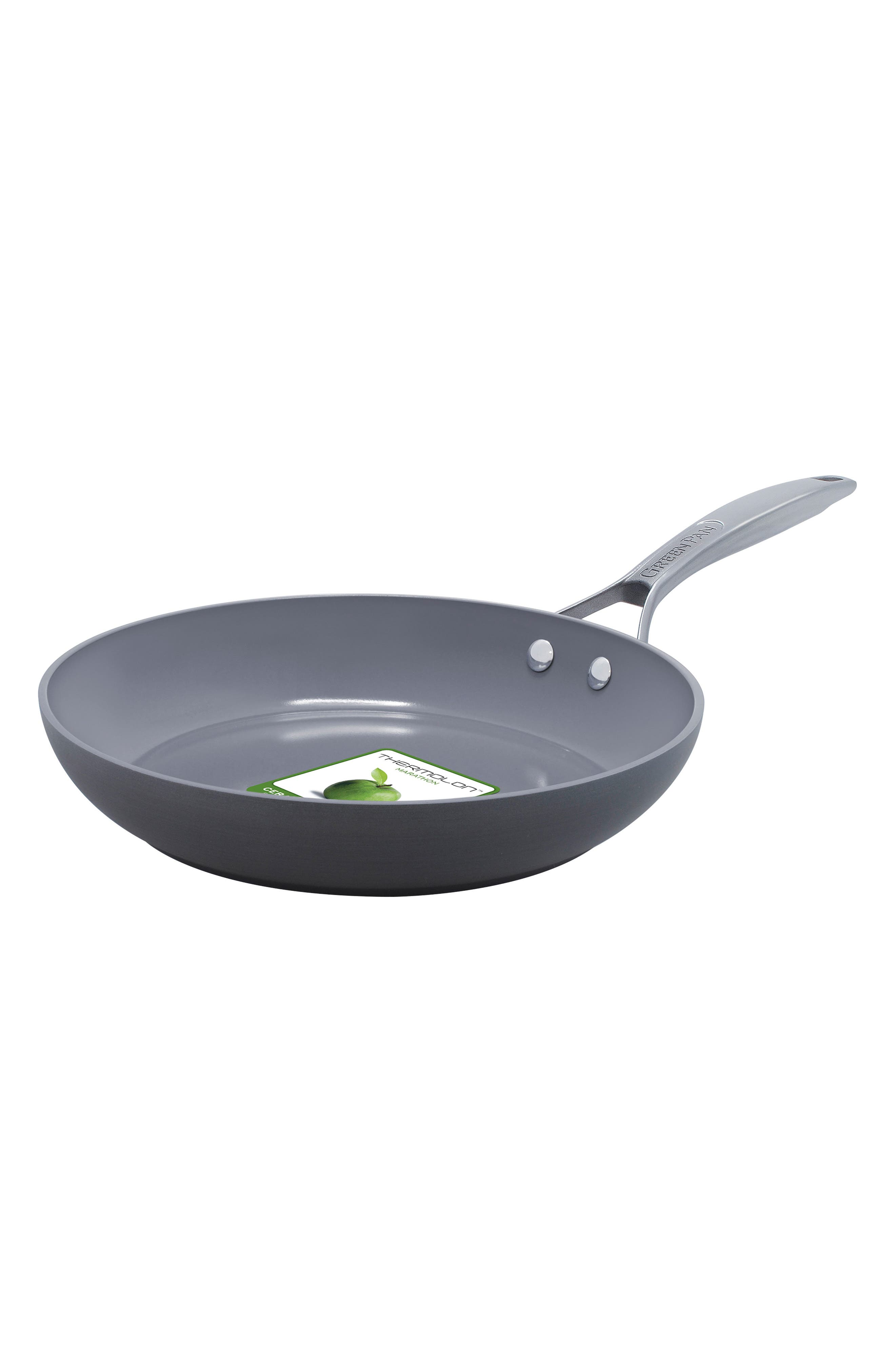 Paris 8-Inch Anodized Aluminum Ceramic Nonstick Frying Pan,                         Main,                         color, Grey