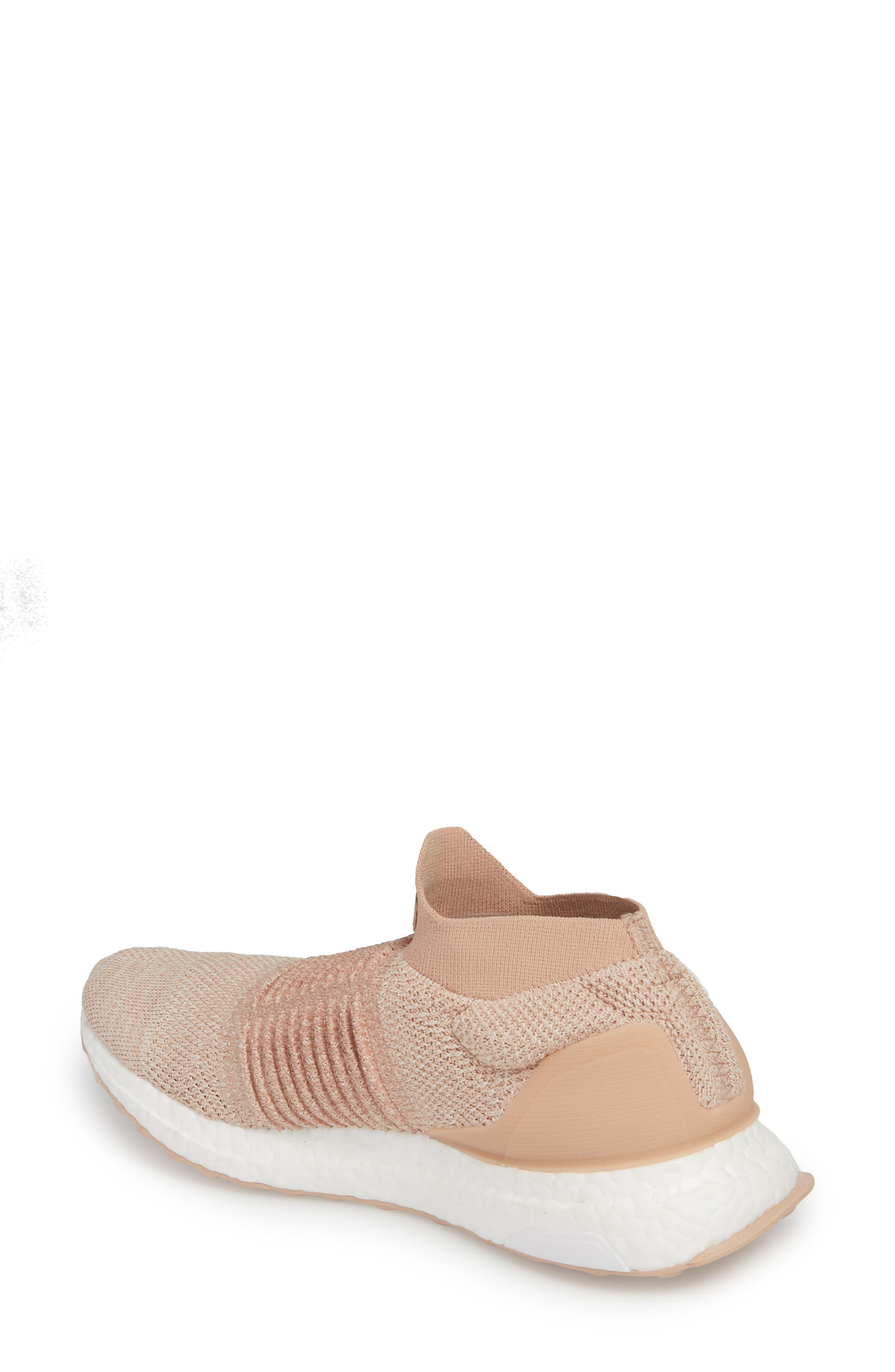 UltraBoost Laceless Running Shoe,                             Alternate thumbnail 2, color,                             Ash Pearl/ Ash Pearl