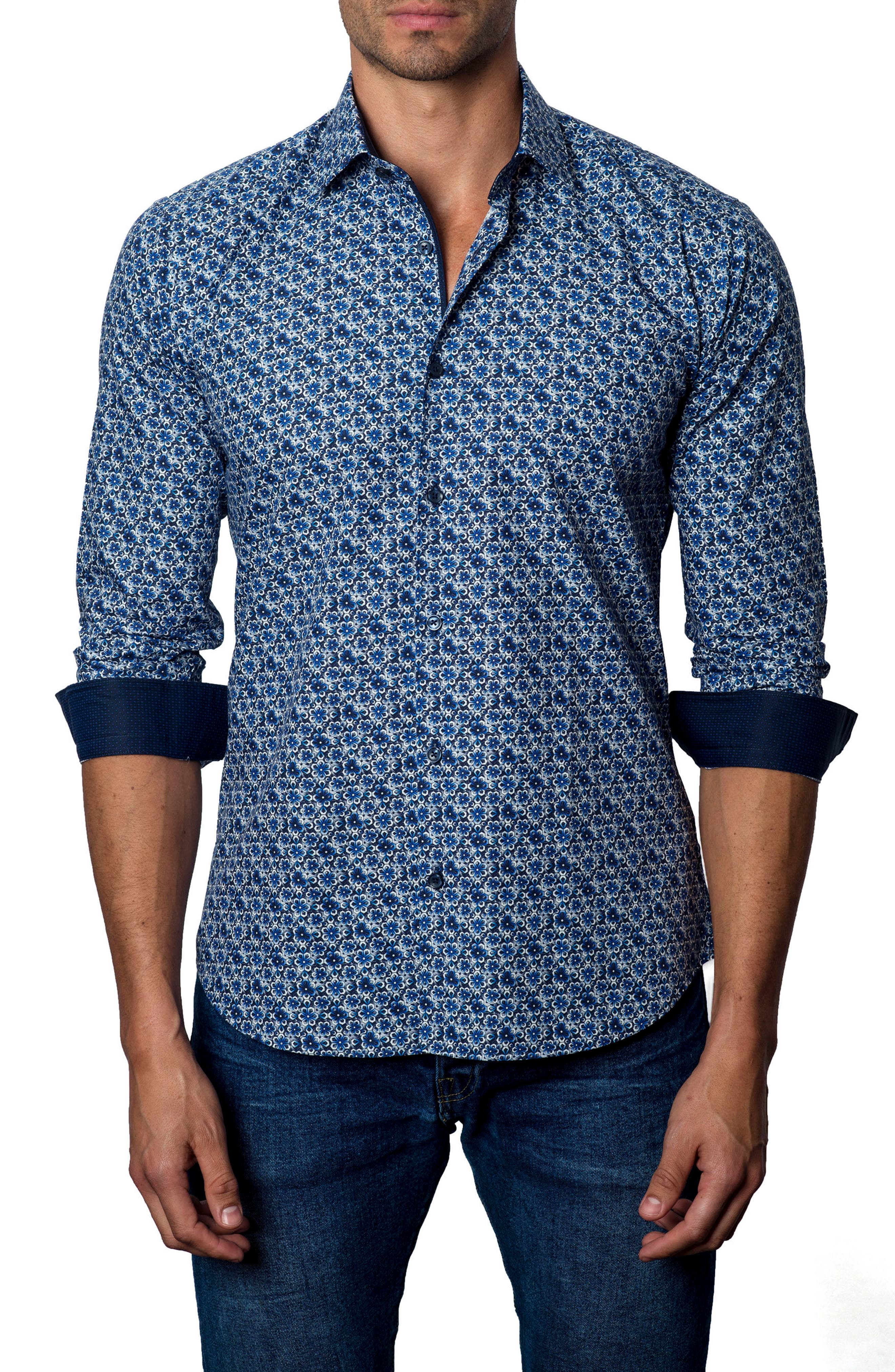 Alternate Image 1 Selected - Jared Lang Print Sport Shirt