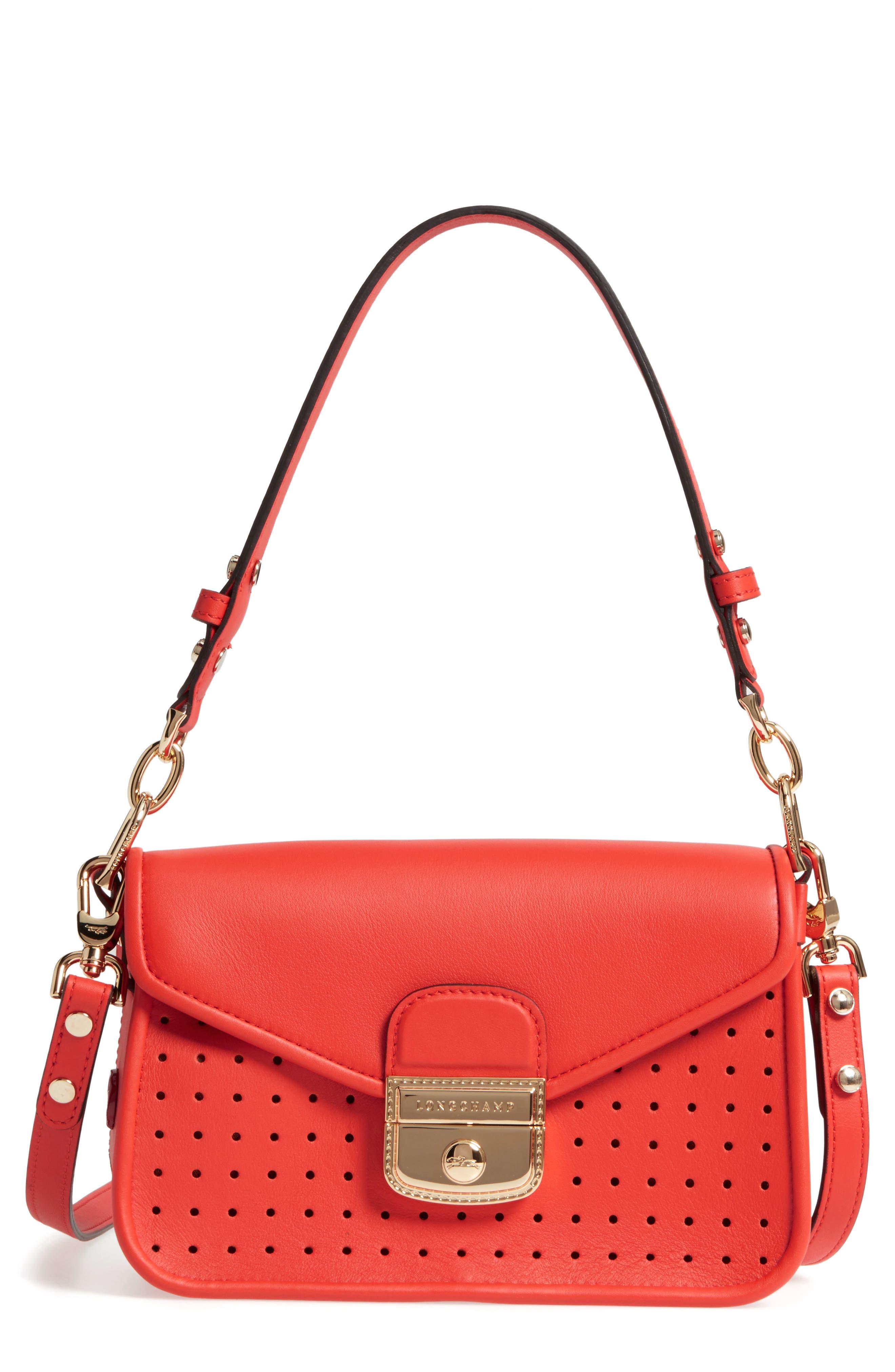 Longchamp Small Mademoiselle Calfskin Leather Crossbody Bag