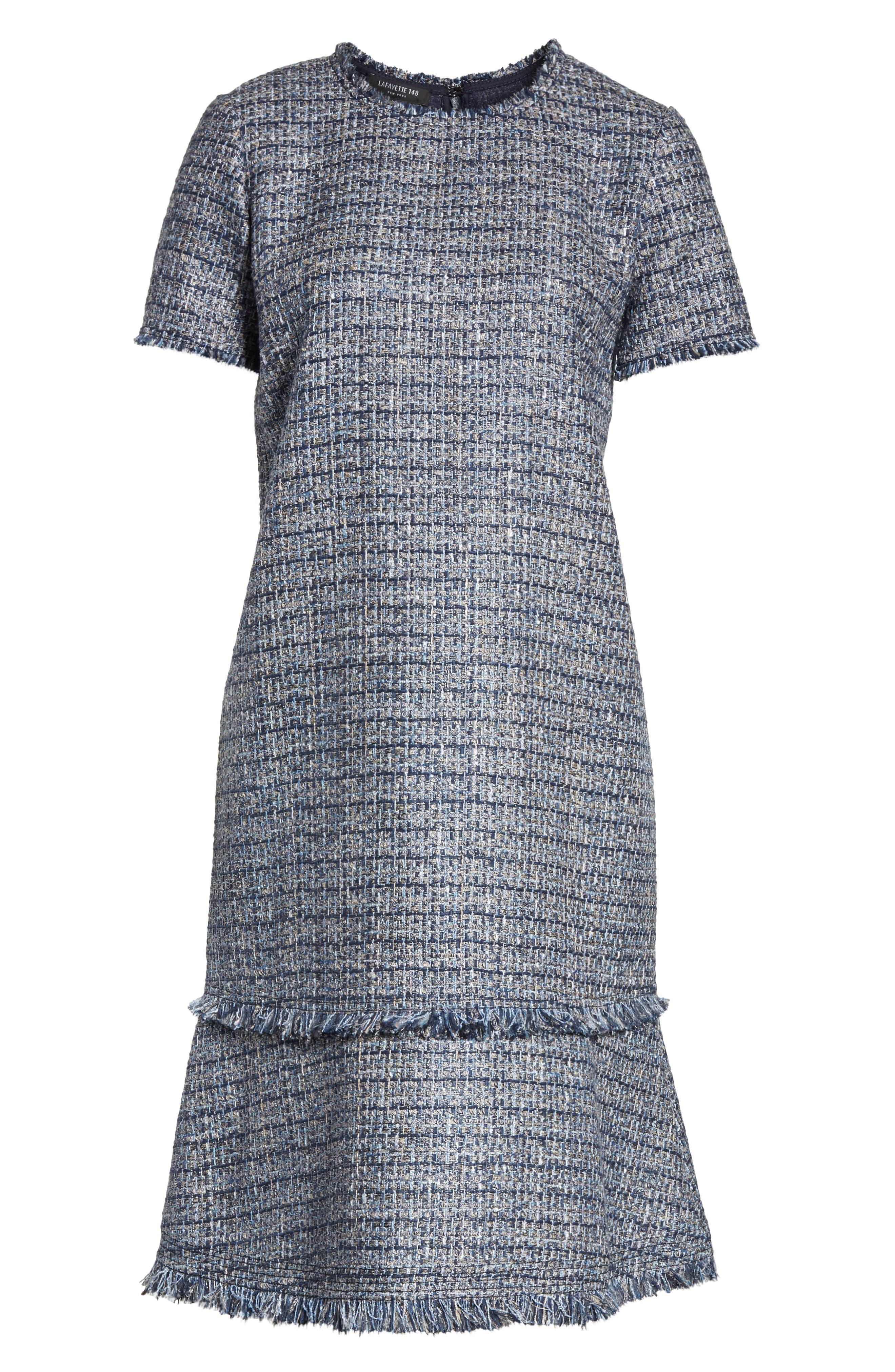 Alternate Image 6  - Lafayette 148 New York Saria Tweed Drop Waist Dress