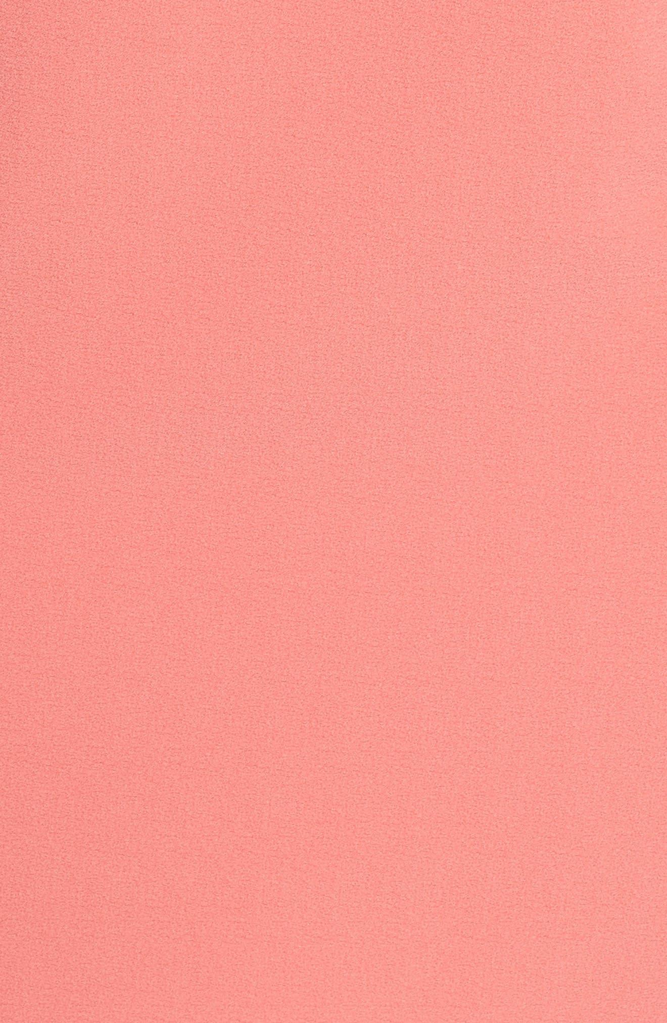 Devery Crepe Shift Dress,                             Alternate thumbnail 6, color,                             Sugar Coral