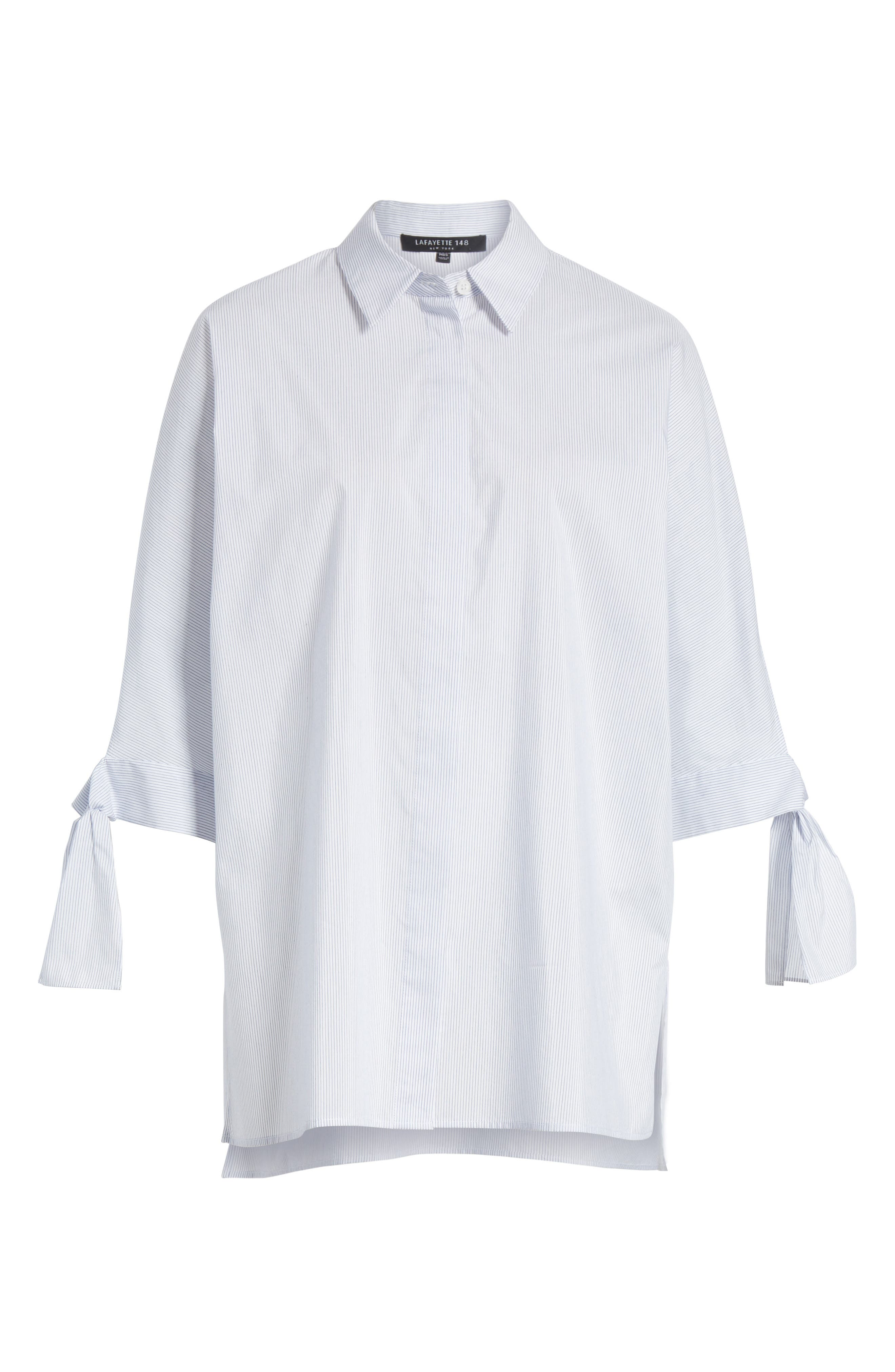 Breezy Stripe Saige Blouse,                             Alternate thumbnail 7, color,                             White Multi