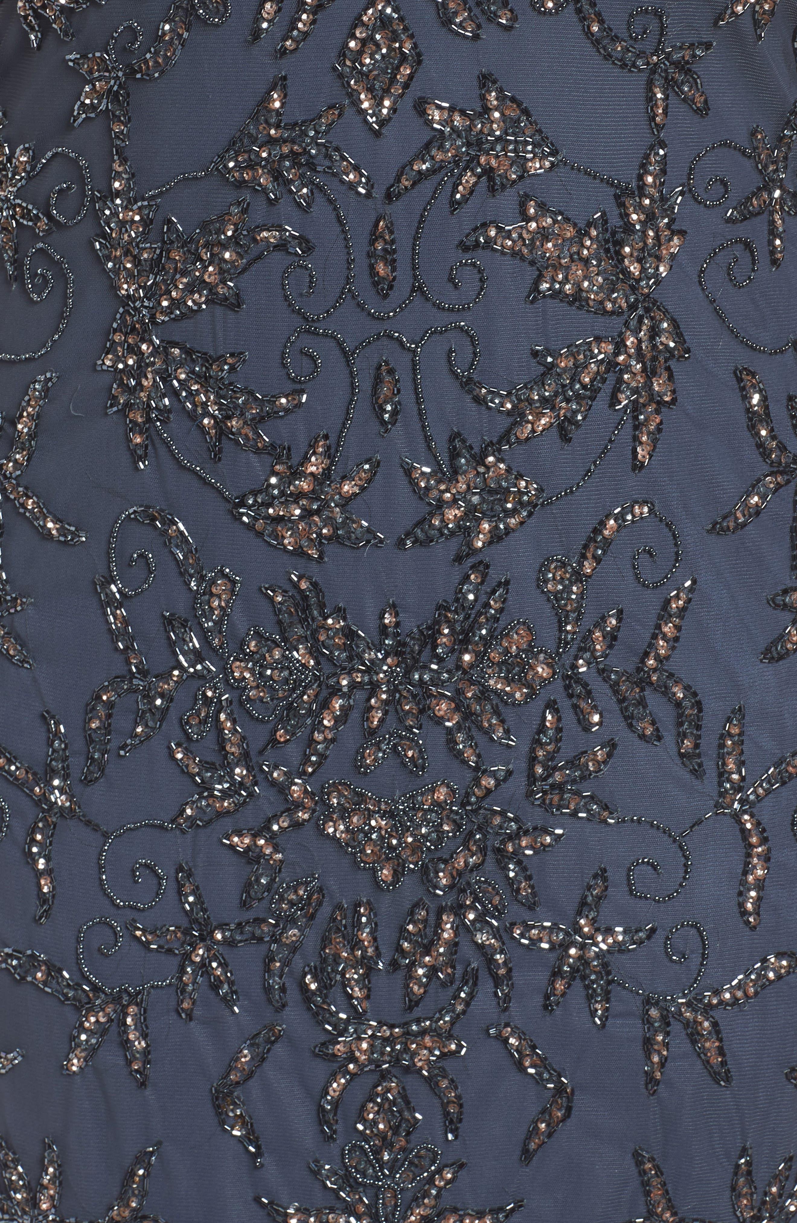 Embellished Sheath Dress,                             Alternate thumbnail 5, color,                             Slate