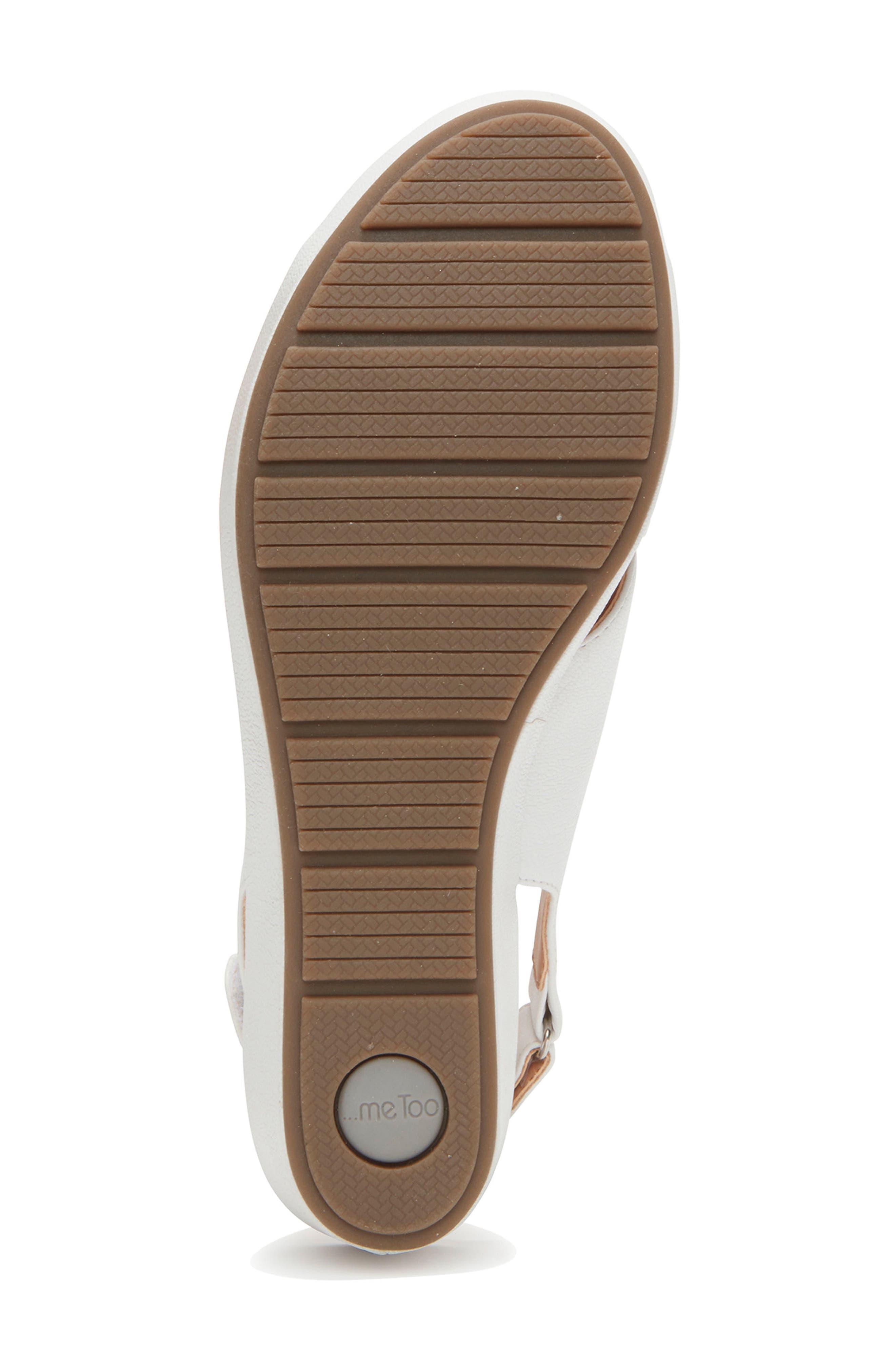 Arena Wedge Sandal,                             Alternate thumbnail 6, color,                             White Leather