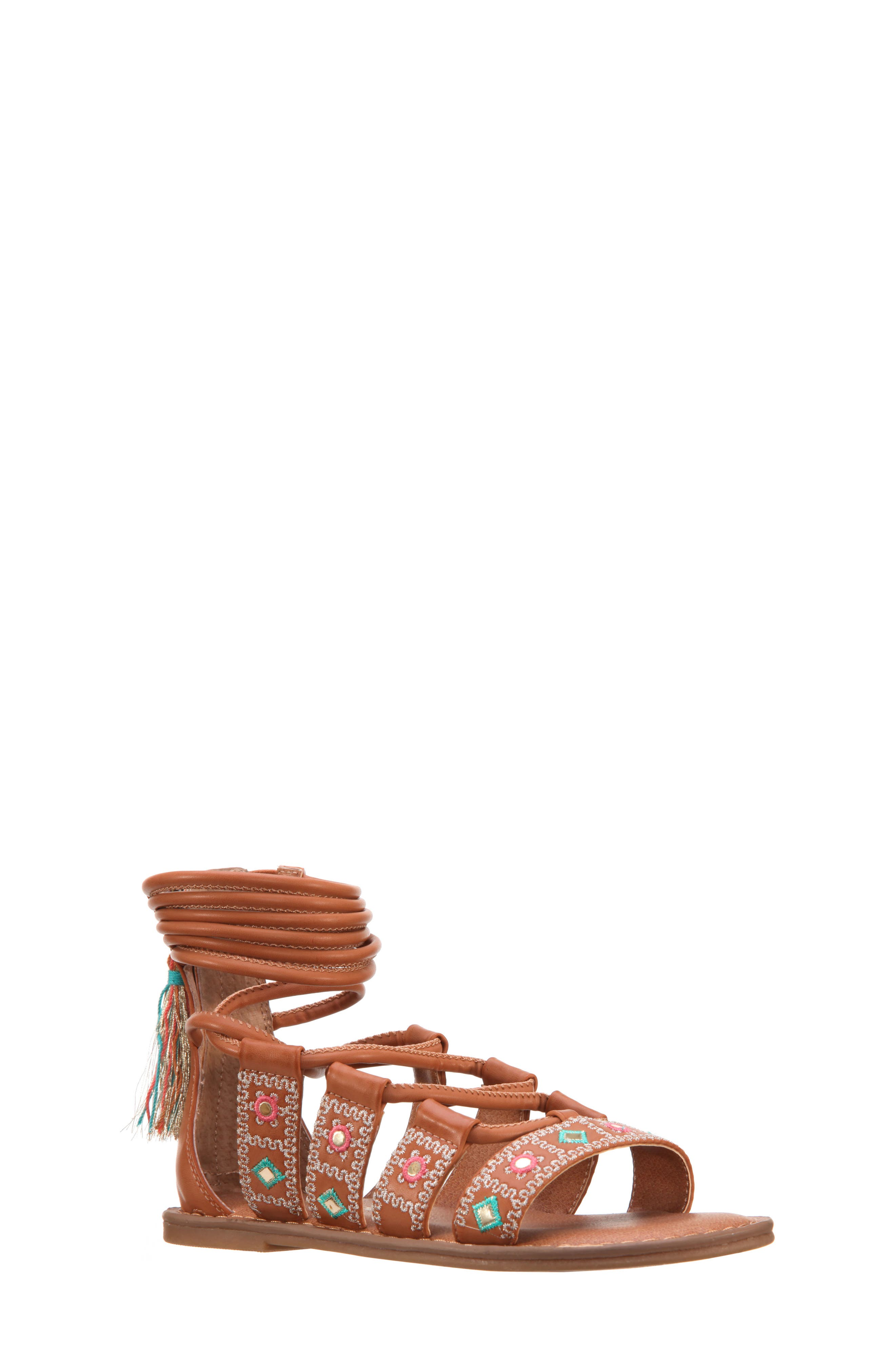 Nina Sherryll Embellished Gladiator Sandal (Little Kid & Big Kid)