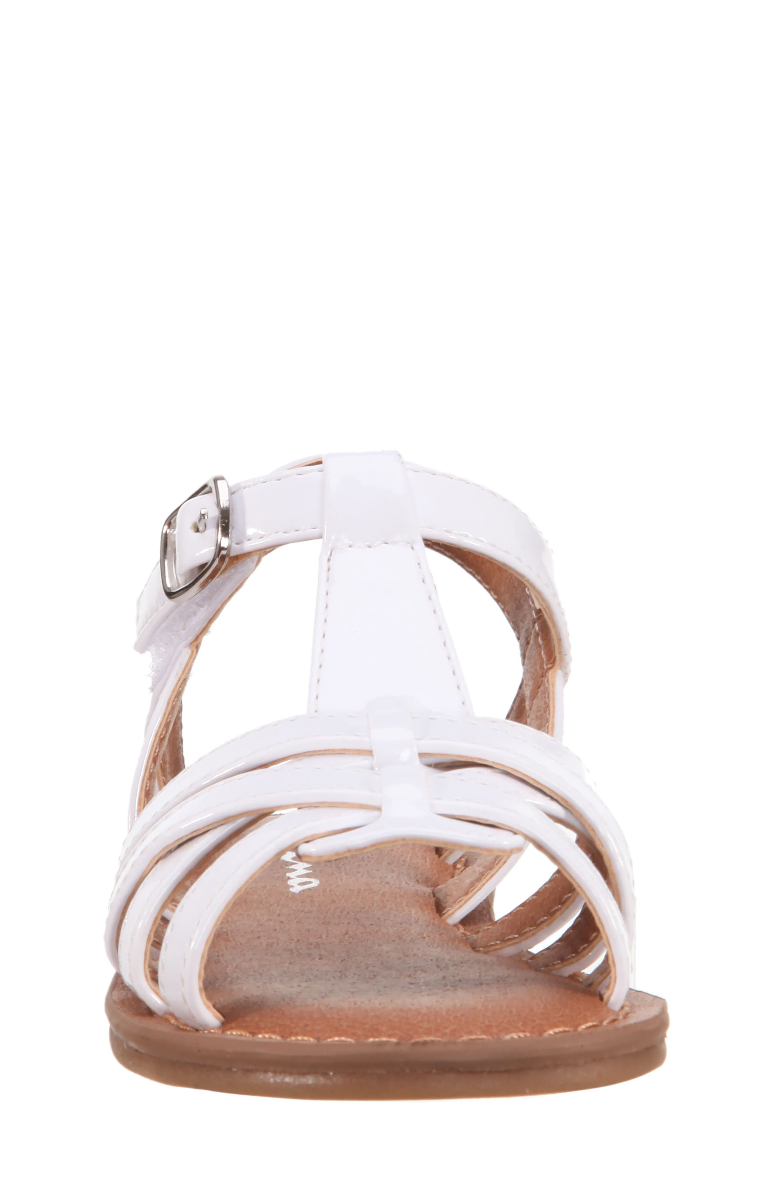 Thereasa Ankle Strap Sandal,                             Alternate thumbnail 4, color,                             White Patent