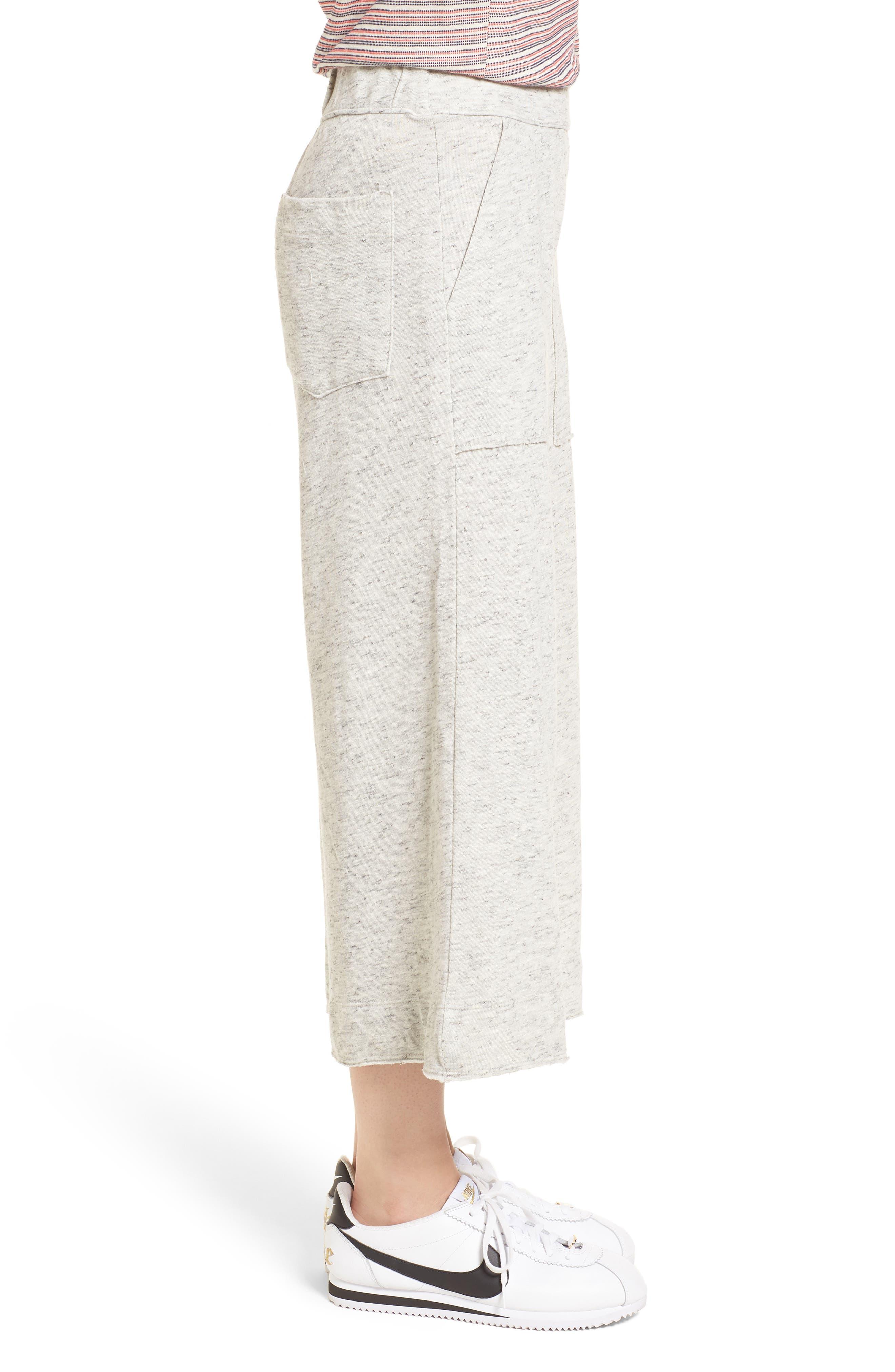 Sidelight Culotte Sweatpants,                             Alternate thumbnail 3, color,                             Grey