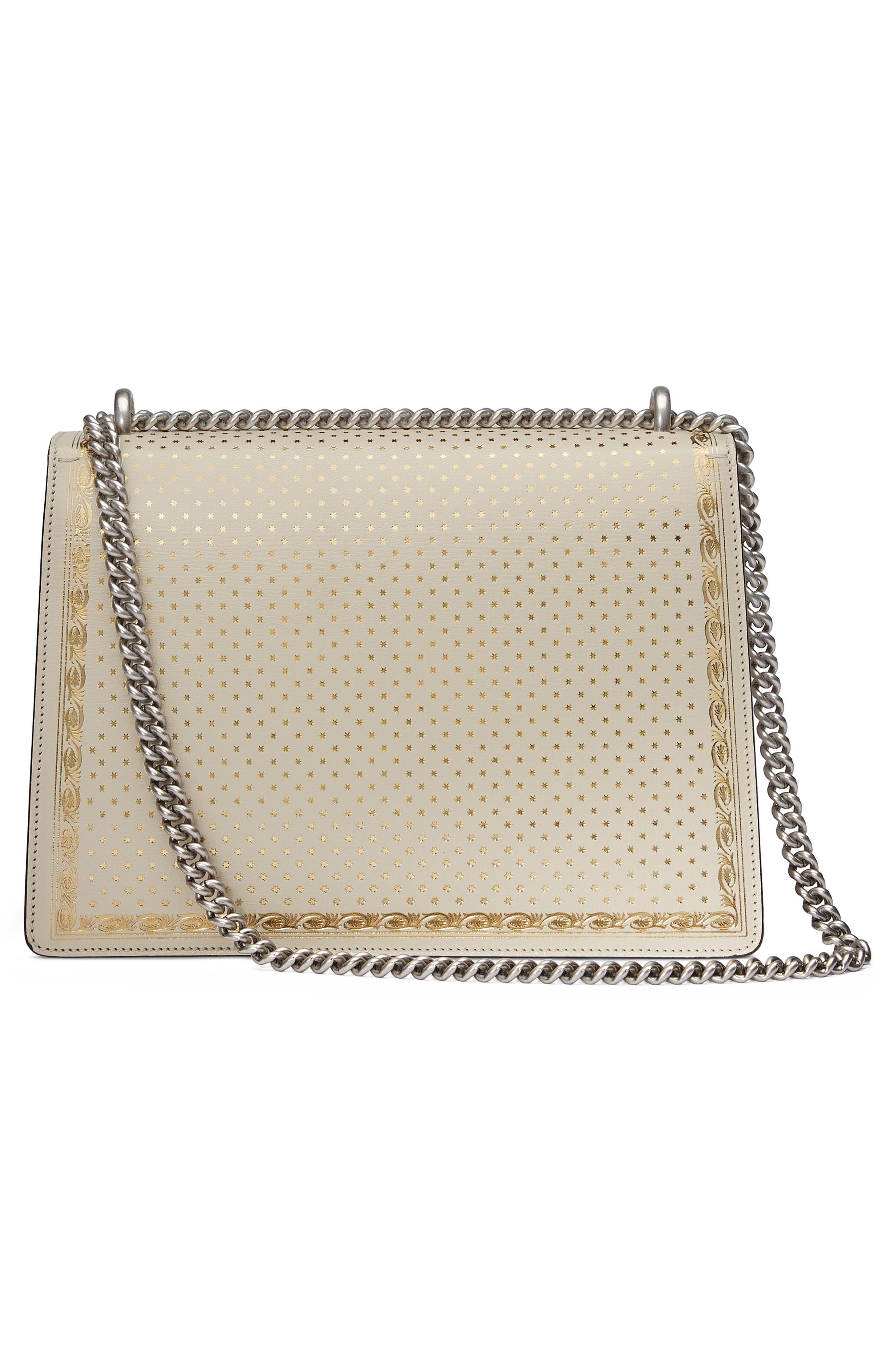 Dionysus Moon & Stars Leather Shoulder Bag,                             Alternate thumbnail 2, color,                             Mystic White/ Oro