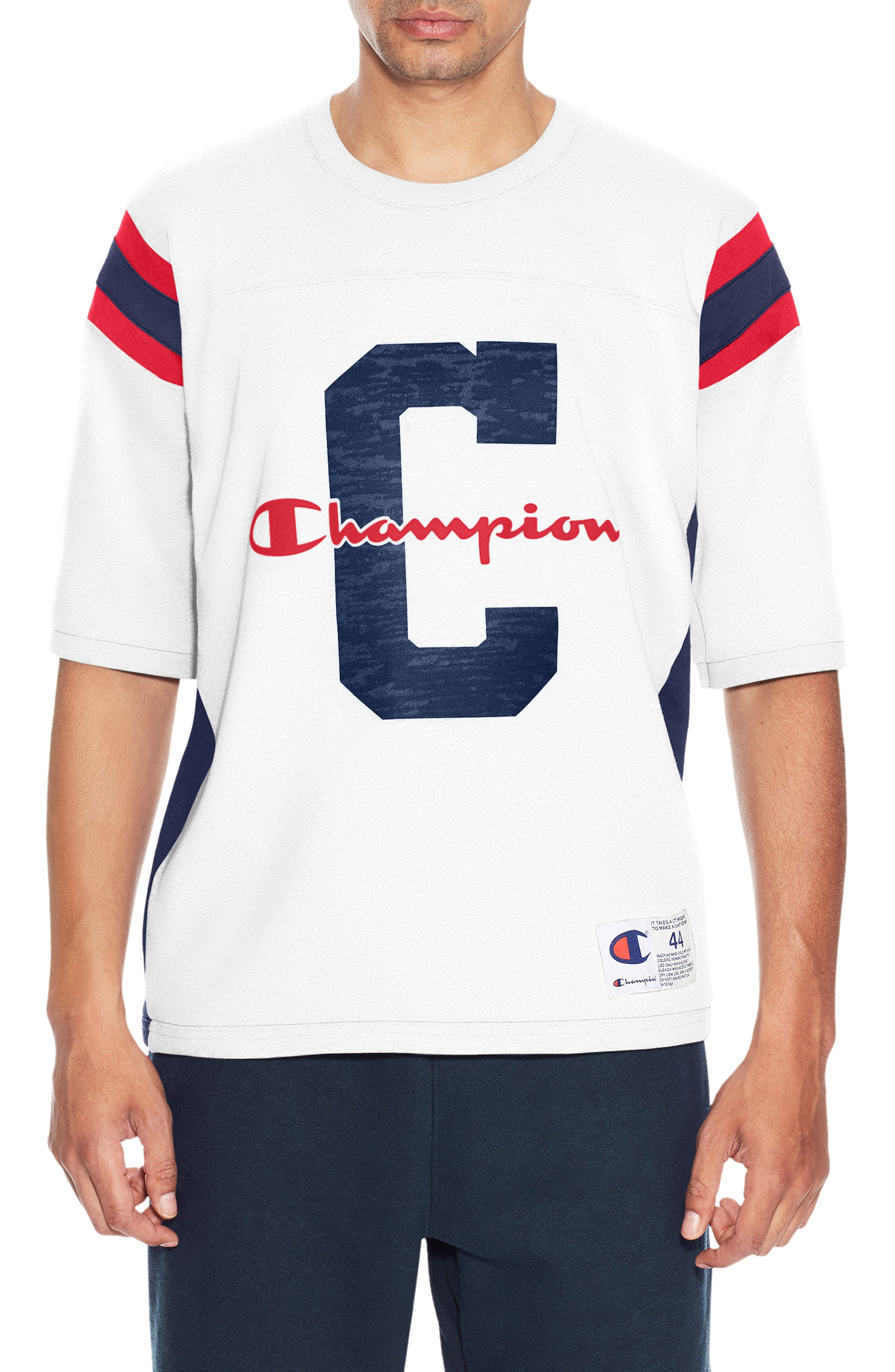 Heavyweight Football Jersey T-Shirt,                         Main,                         color, White/ Imperial Indigio