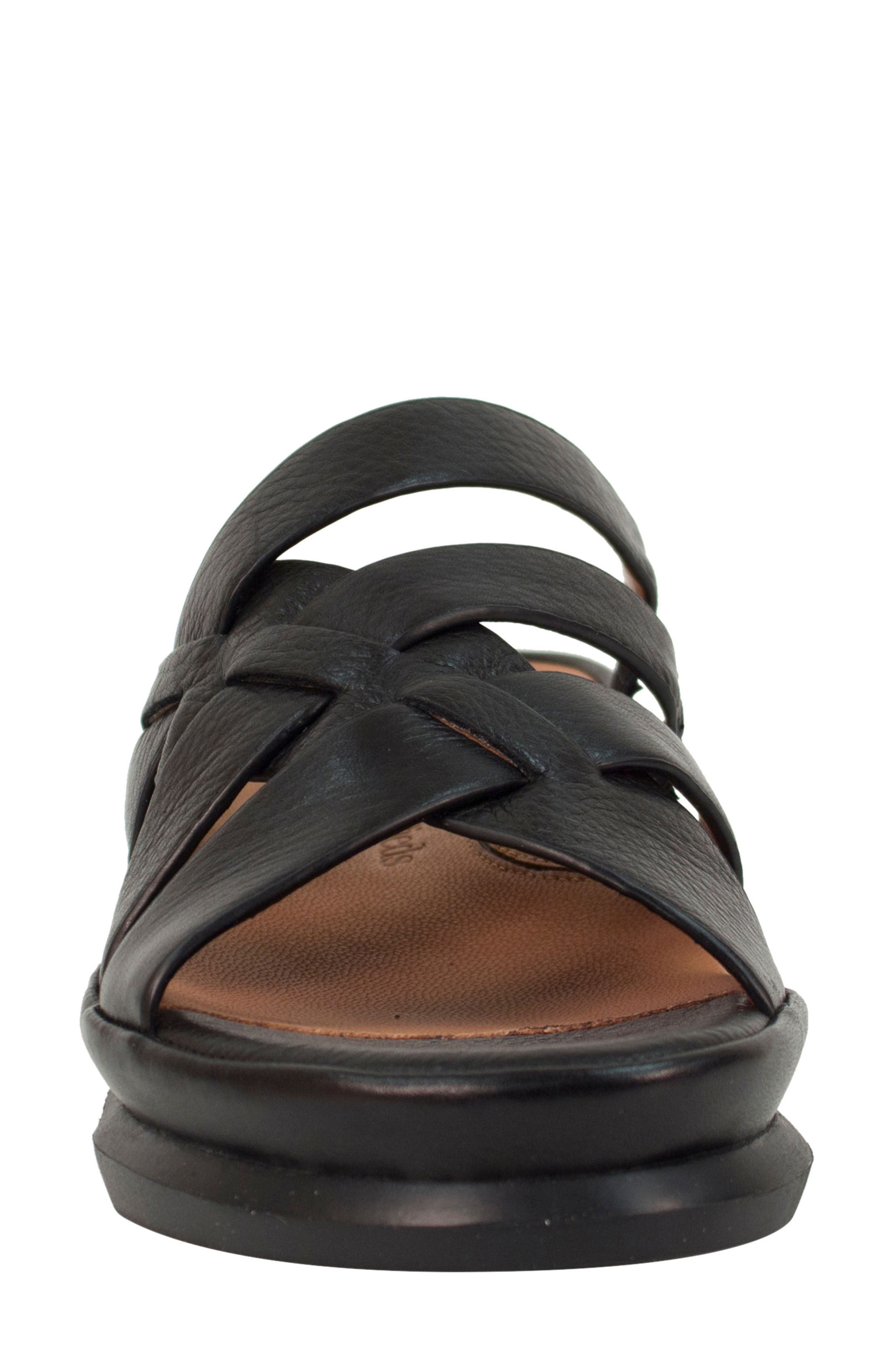 Veryl Sandal,                             Alternate thumbnail 4, color,                             Black Leather