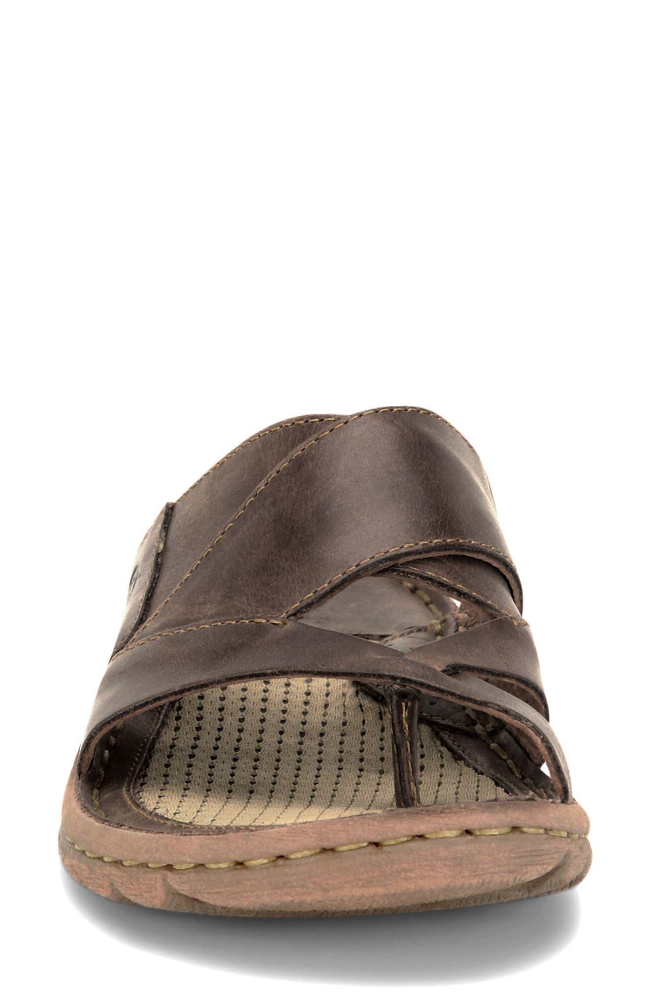 'Sorja' Leather Sandal,                             Alternate thumbnail 4, color,                             Dark Brown Leather