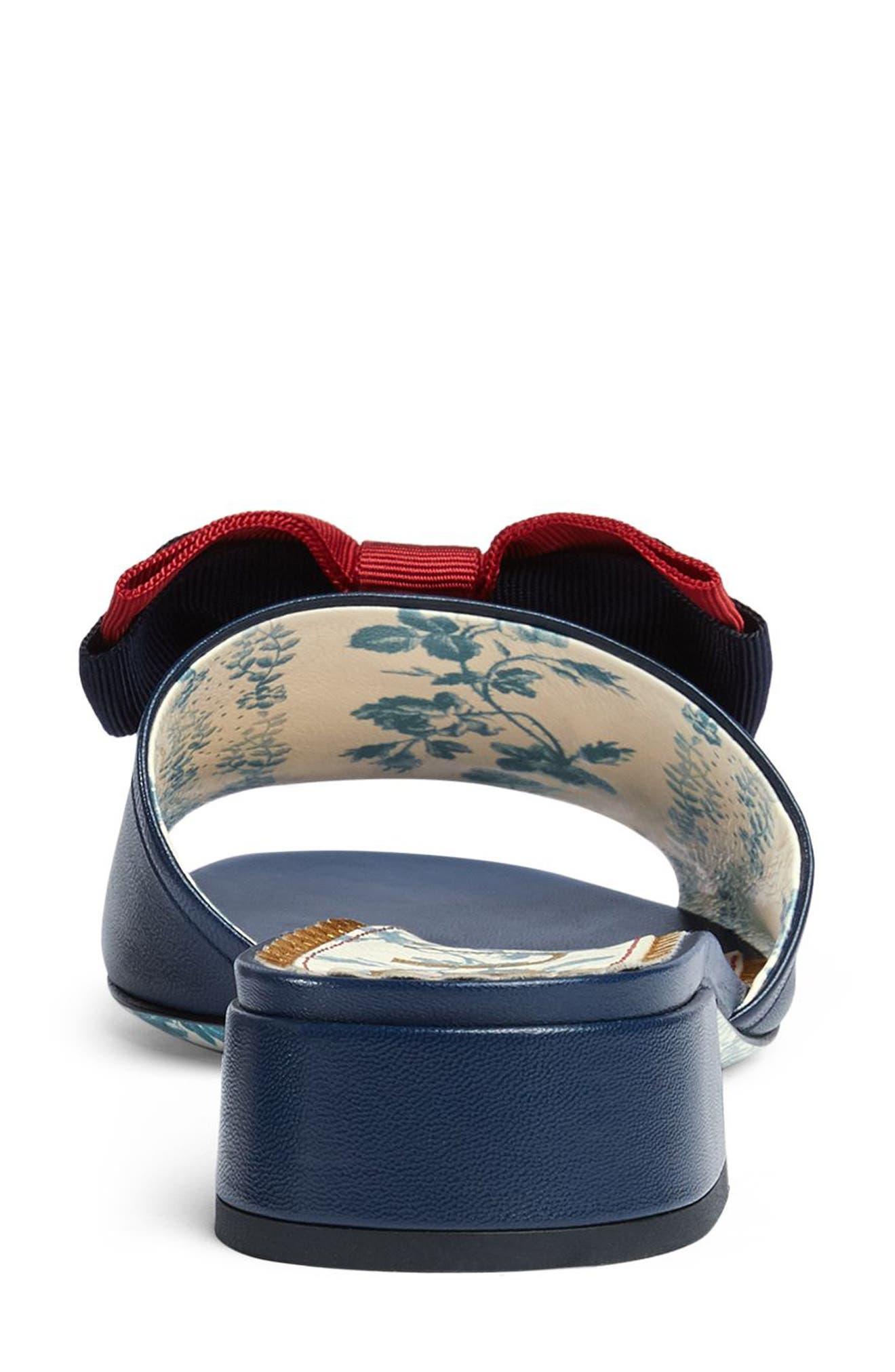 Sackville Bow Sandal,                             Alternate thumbnail 5, color,                             Blue/ Red