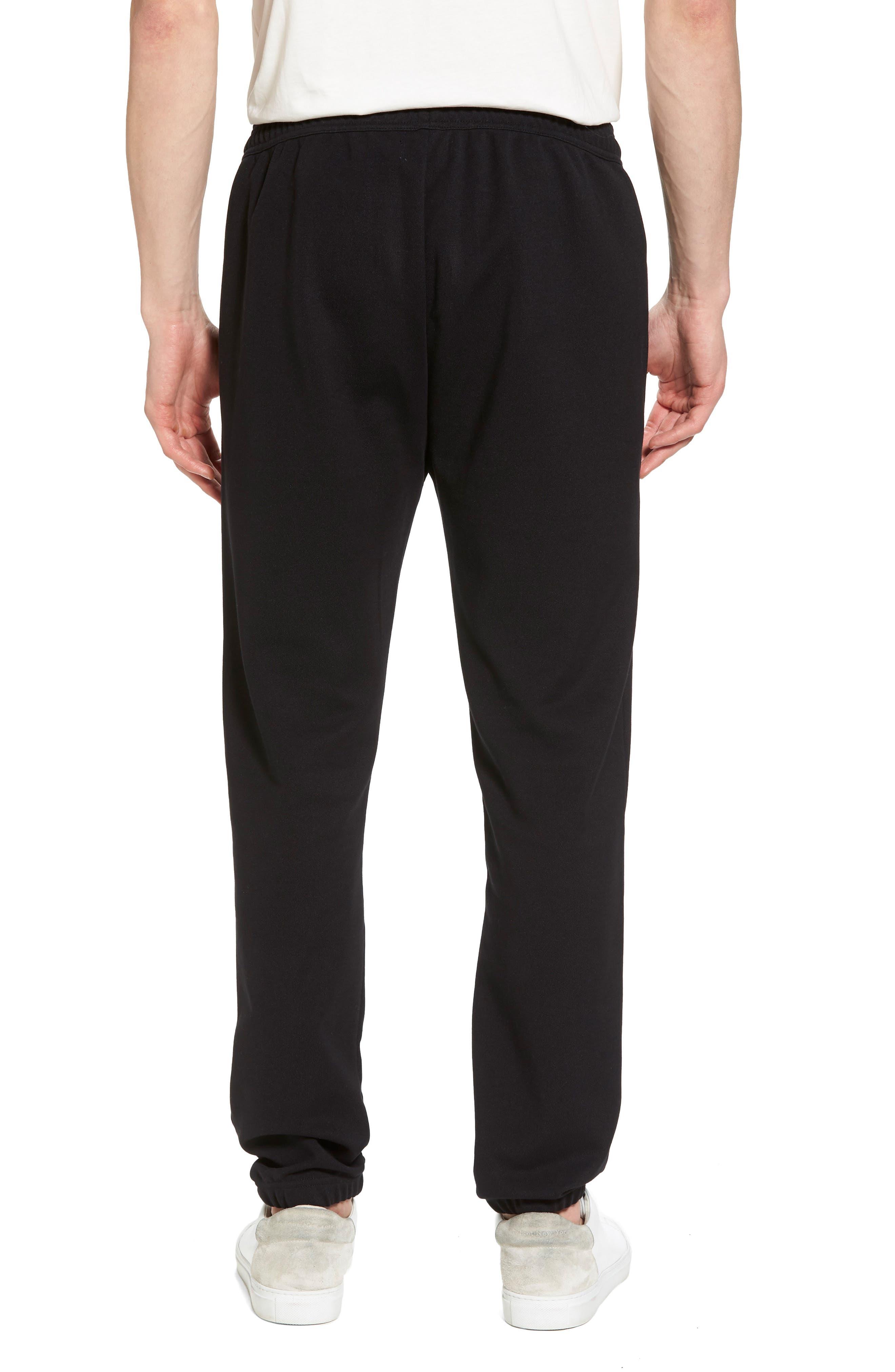 Reverse Tricot Track Pants,                             Alternate thumbnail 2, color,                             Black