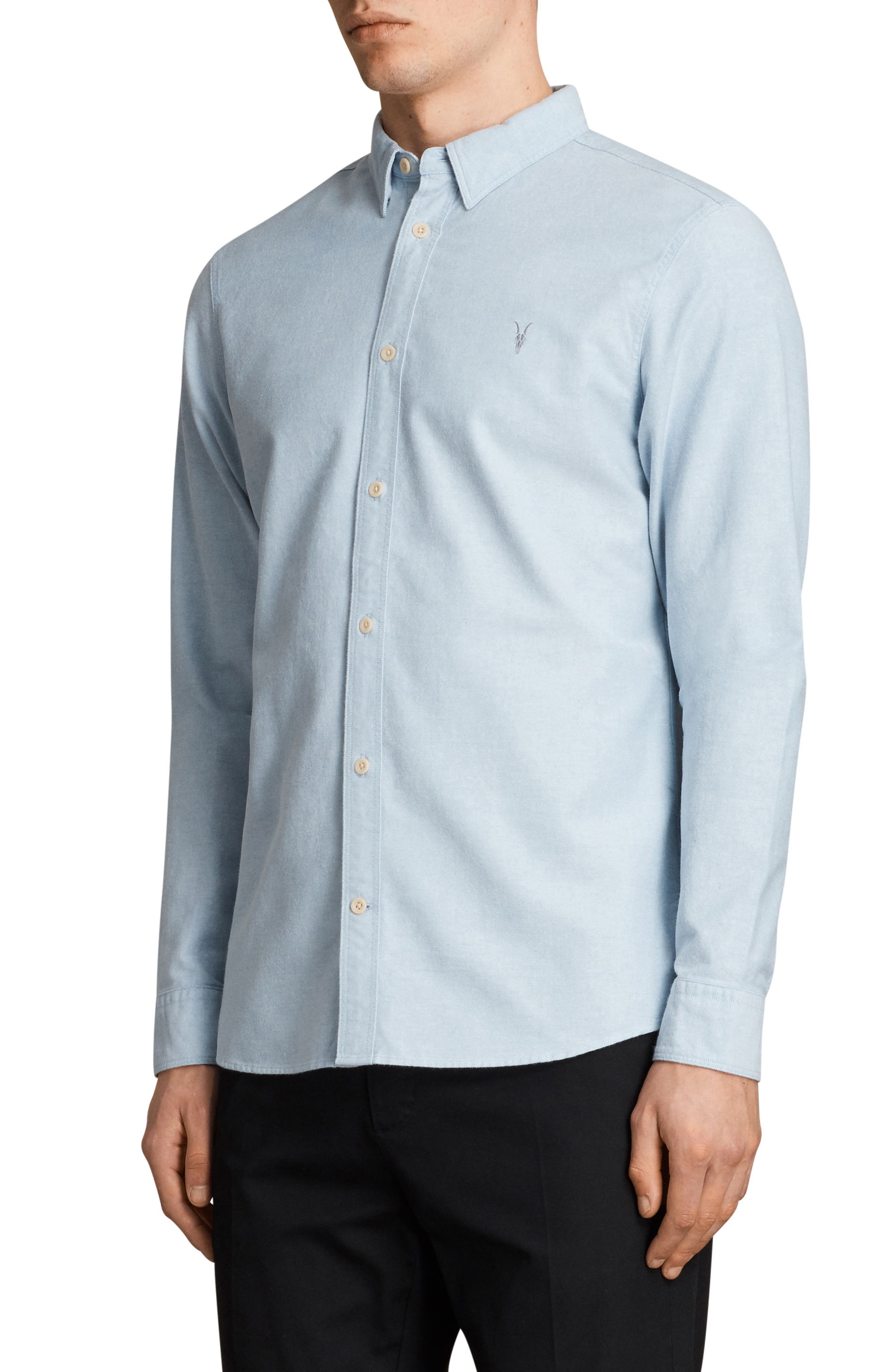 Huntington Regular Fit Sport Shirt,                             Alternate thumbnail 3, color,                             Light Blue