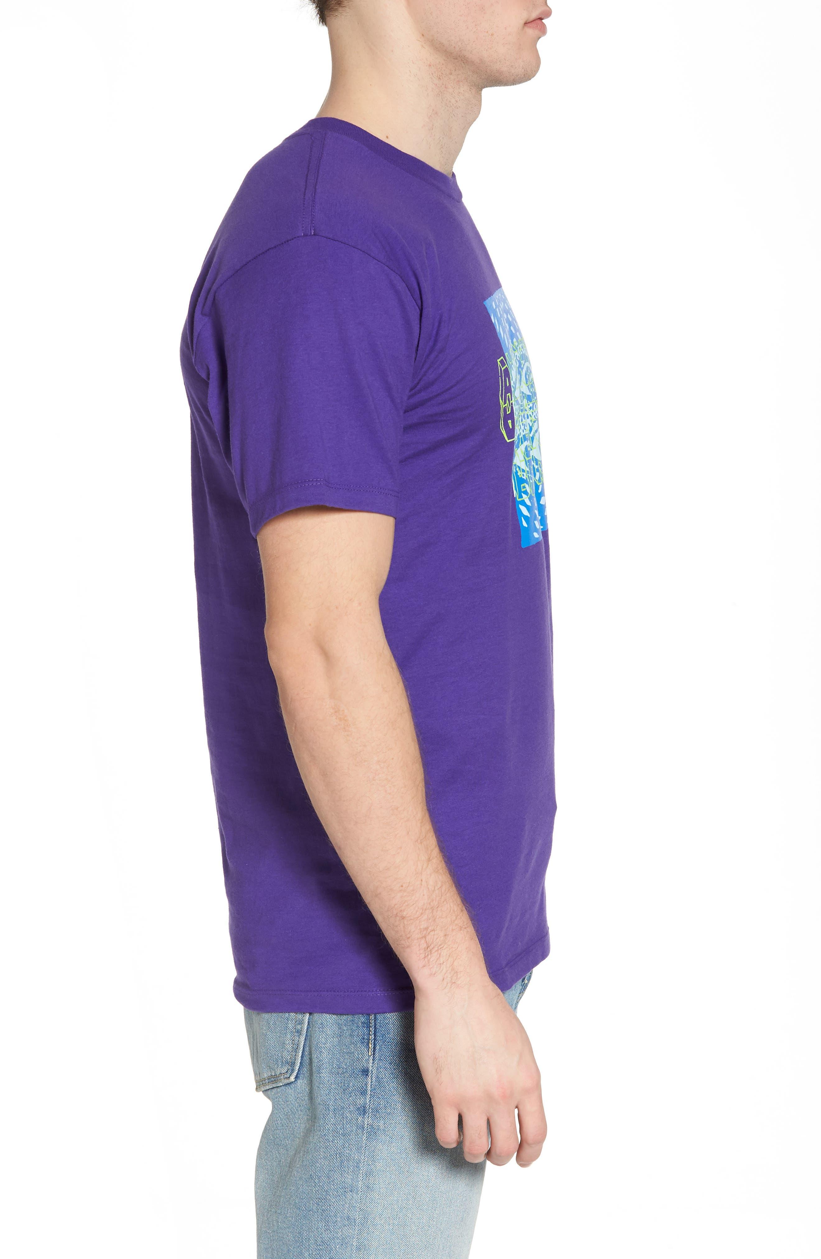 Alternate Reality Graphic T-Shirt,                             Alternate thumbnail 3, color,                             Purple