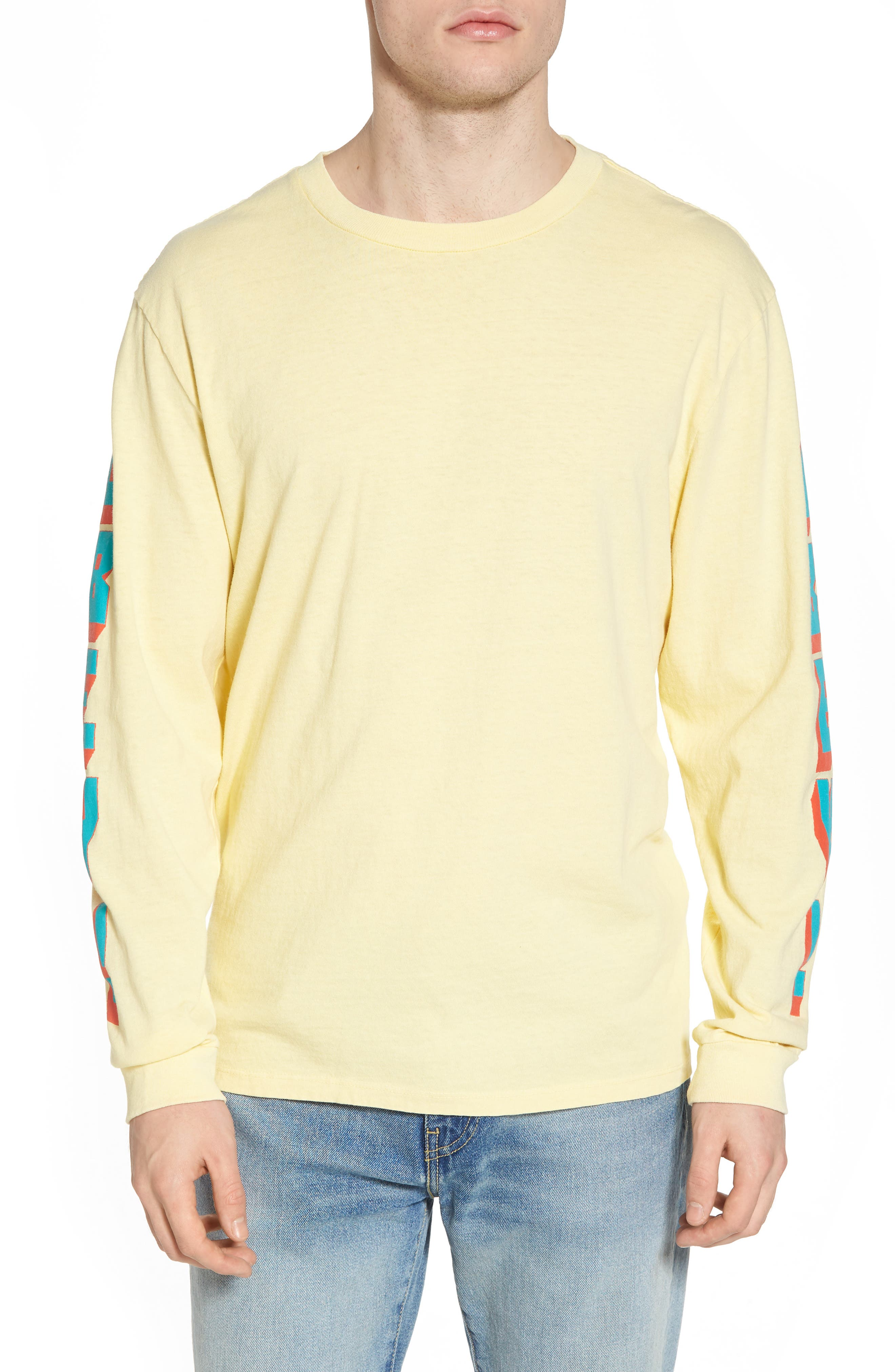 New World II Pigment T-Shirt,                         Main,                         color, Dusty Lemon