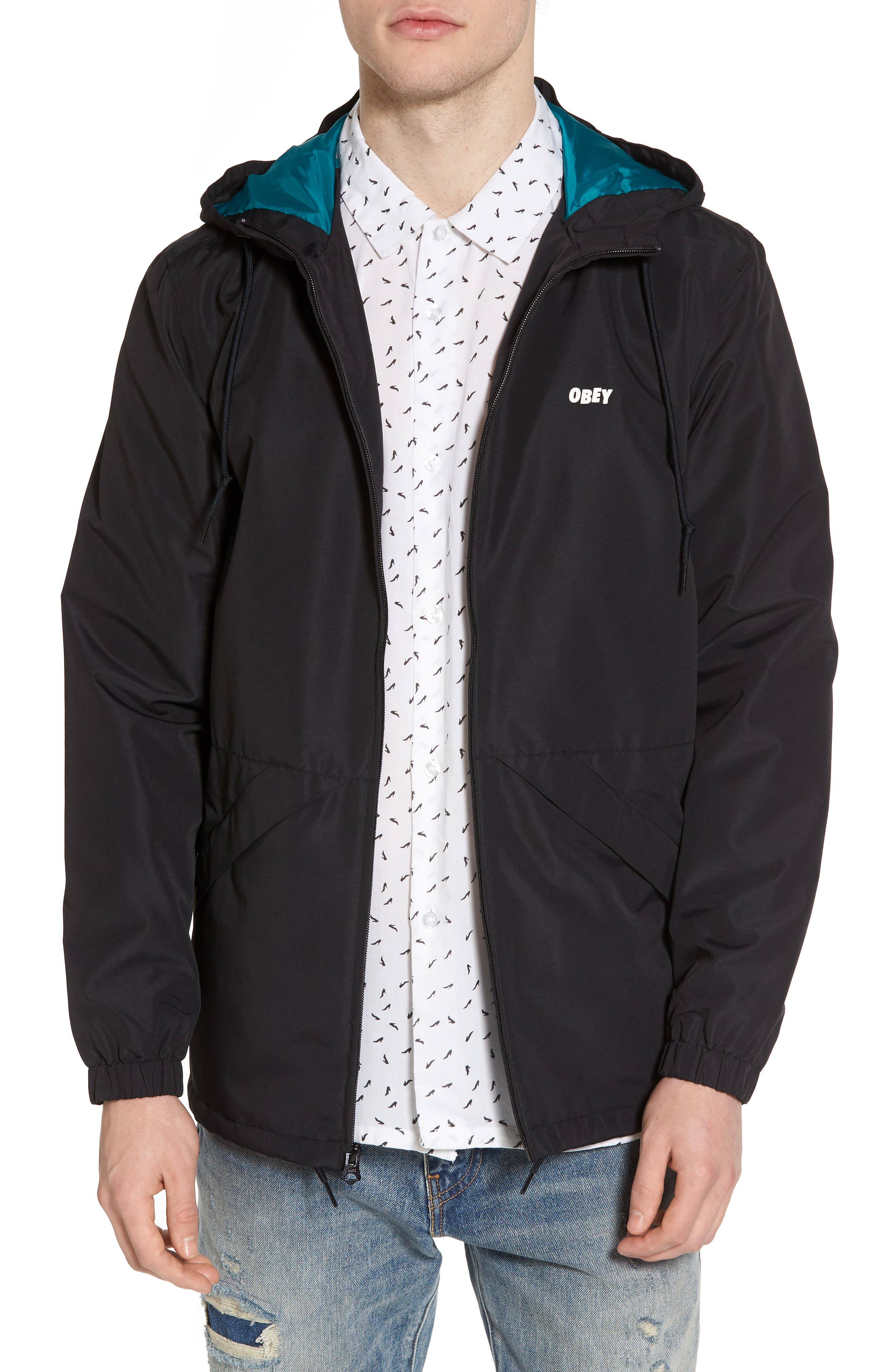 Ambush Hooded Jacket,                         Main,                         color, Black