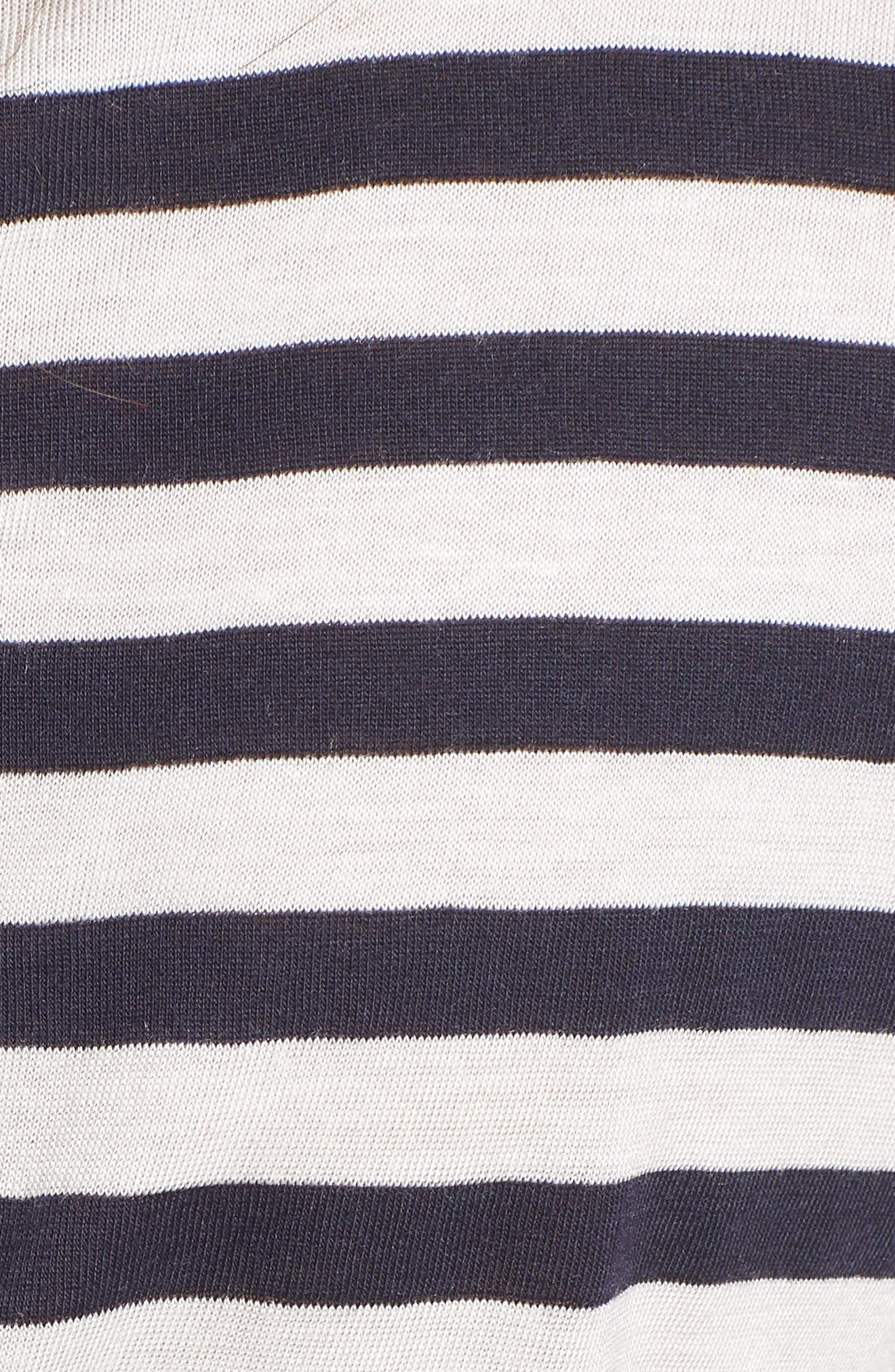 Je T'aime Stripe Ringer Tee,                             Alternate thumbnail 5, color,                             White Stripe