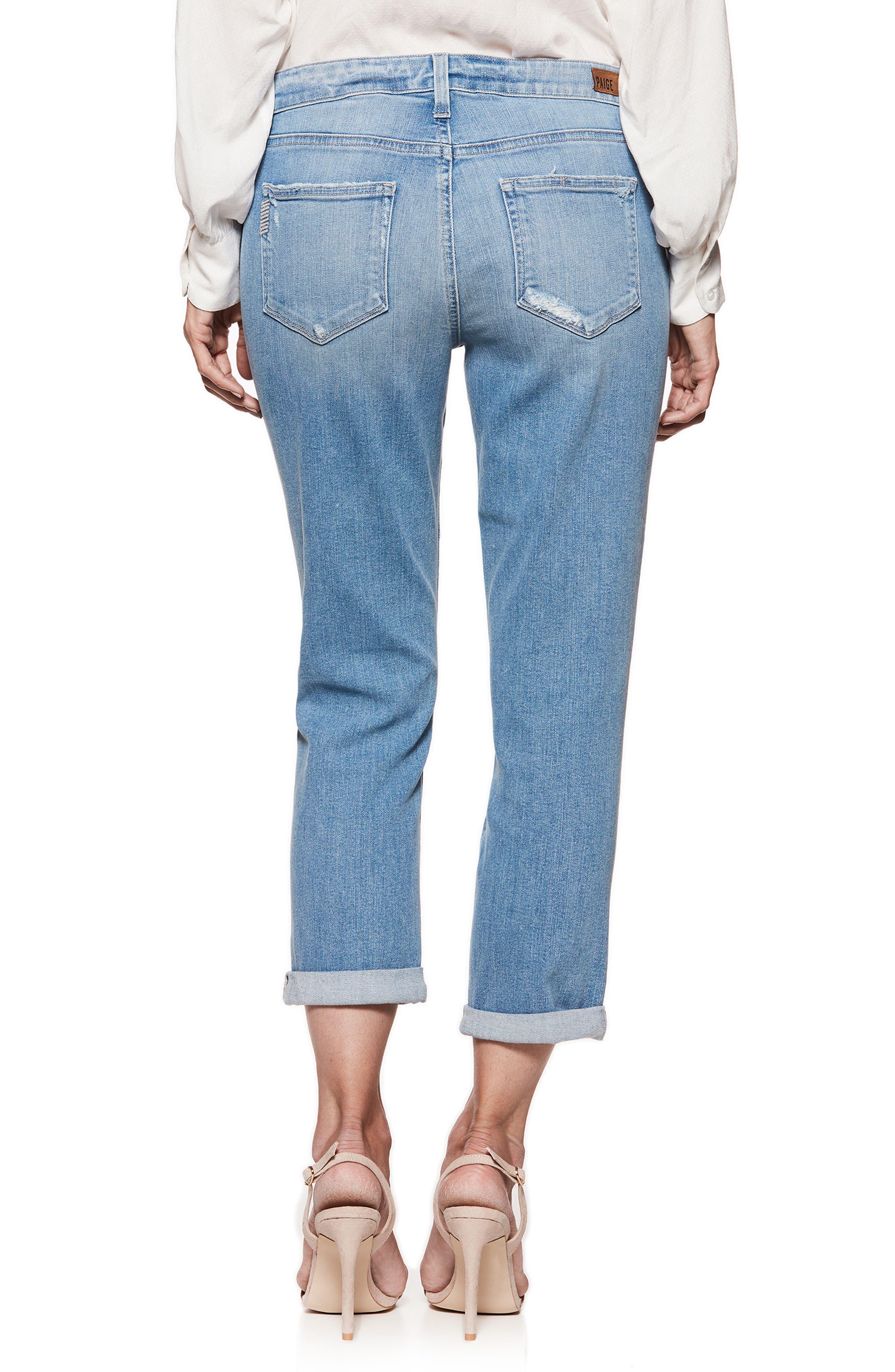 Transcend Vintage - Jimmy Jimmy High Waist Crop Boyfriend Jeans,                             Alternate thumbnail 3, color,                             Atterbury