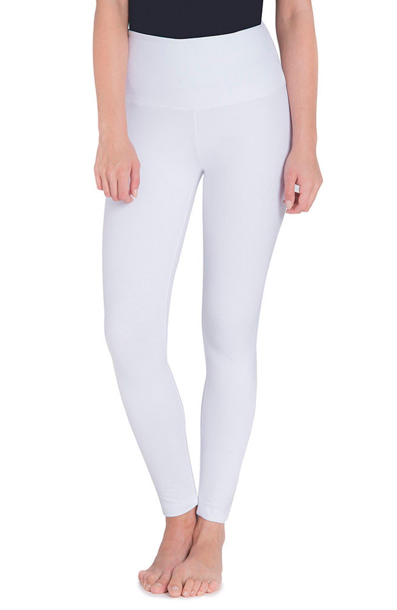Control Top High Waist Leggings,                         Main,                         color, White