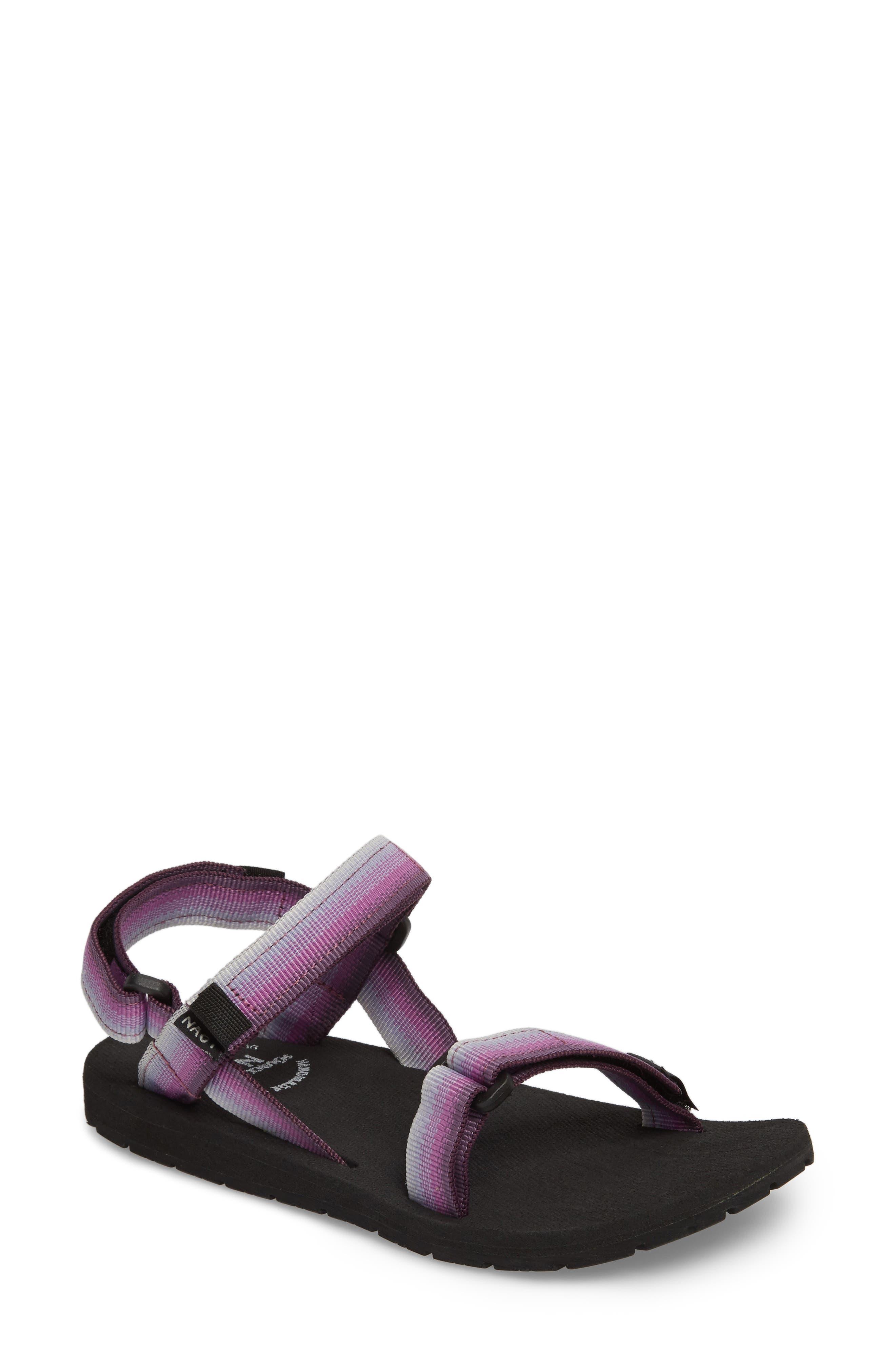 Haven Waterproof Sandal,                             Main thumbnail 1, color,                             Purple Sunset Fabric