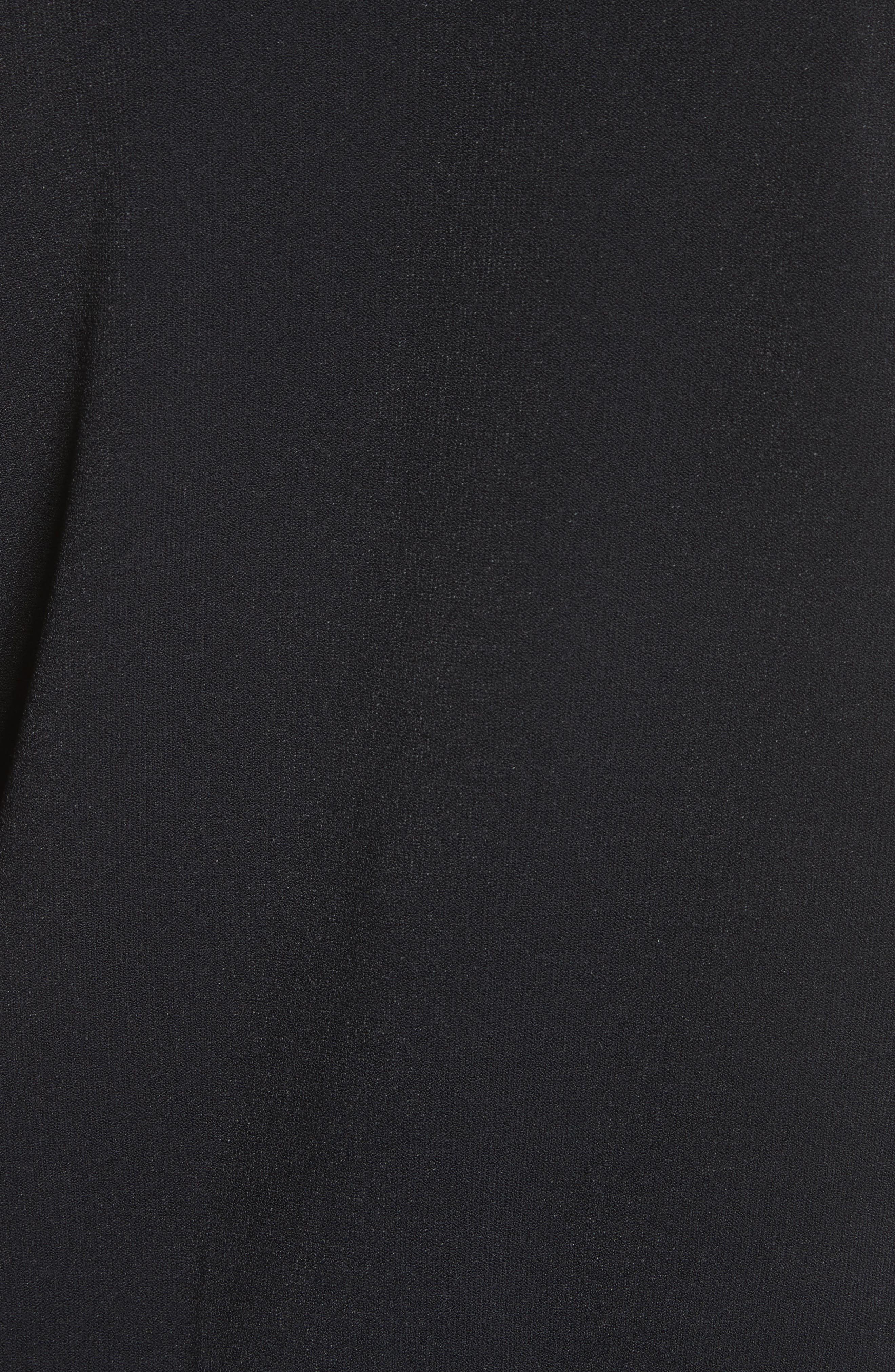 Lace Front Bomber Jacket,                             Alternate thumbnail 5, color,                             Black