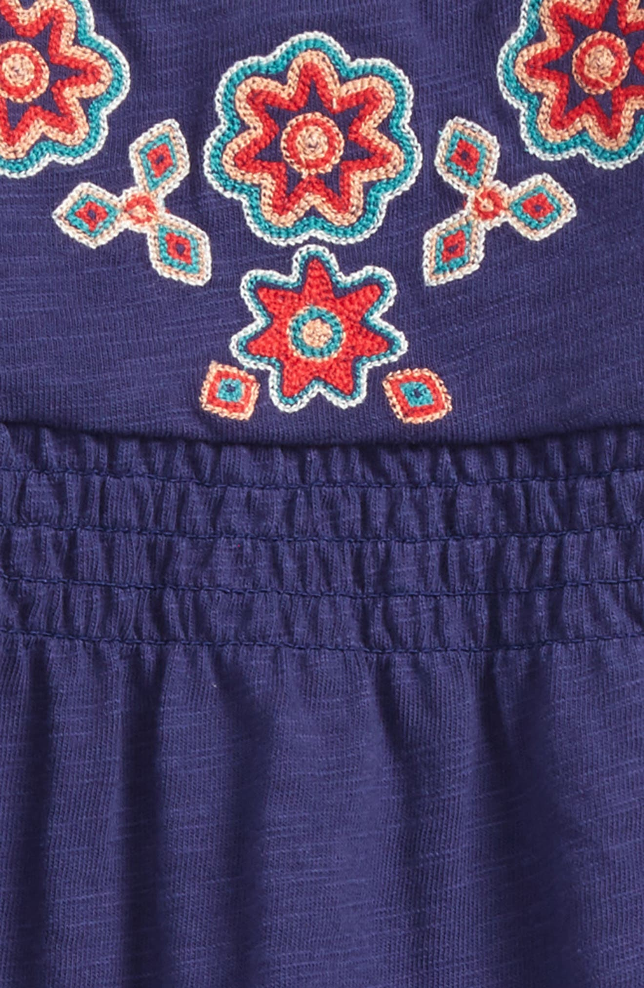 Embroidered Romper,                             Alternate thumbnail 2, color,                             Twilight