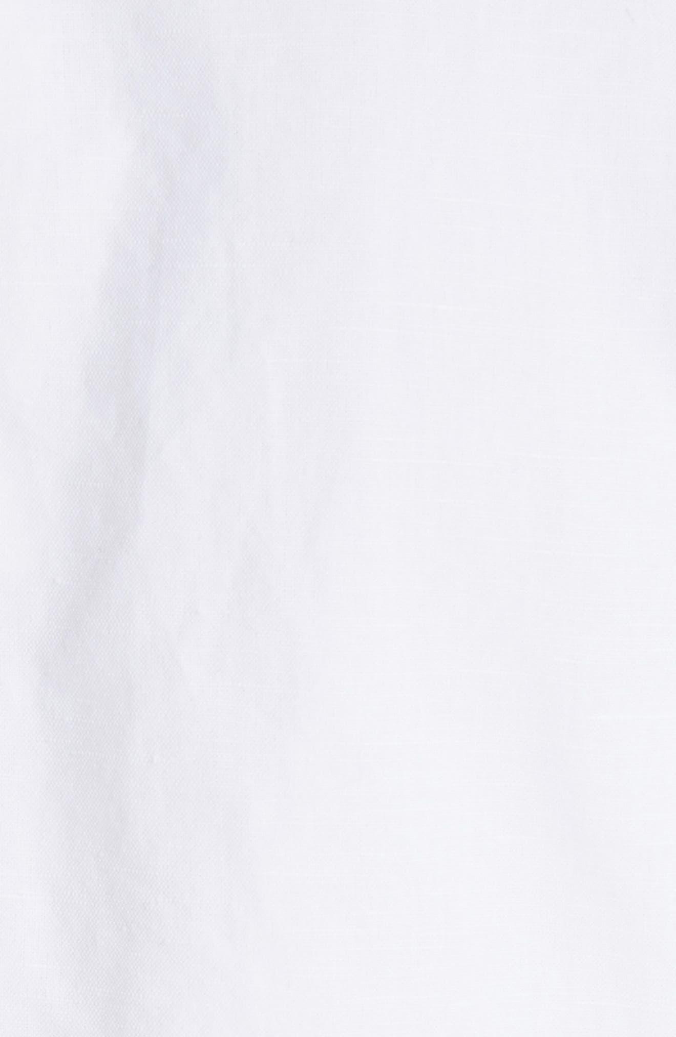 Lyndon Courtly Cotton & Linen Jacket,                             Alternate thumbnail 5, color,                             White