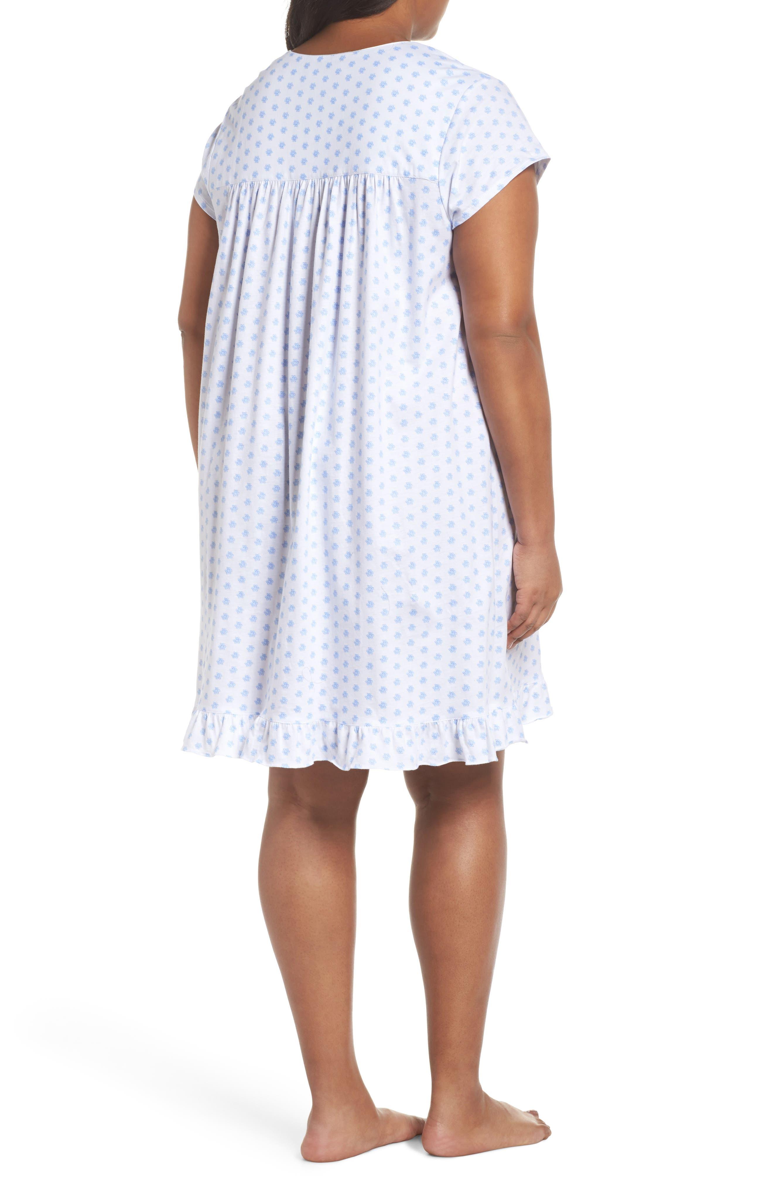 Alternate Image 2  - Eileen West Short Nightgown (Plus Size)